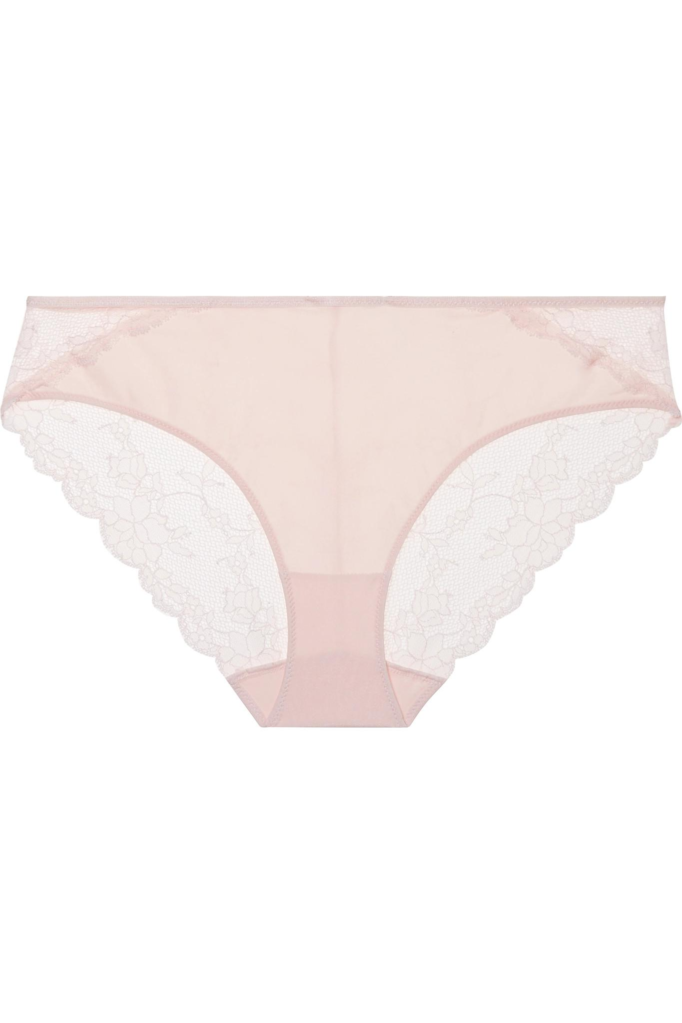 For Sale Chantelle Everyday Stretch-jersey And Lace Briefs - Pastel With Paypal Cheap Online Free Shipping Genuine In China Online ItuMFF