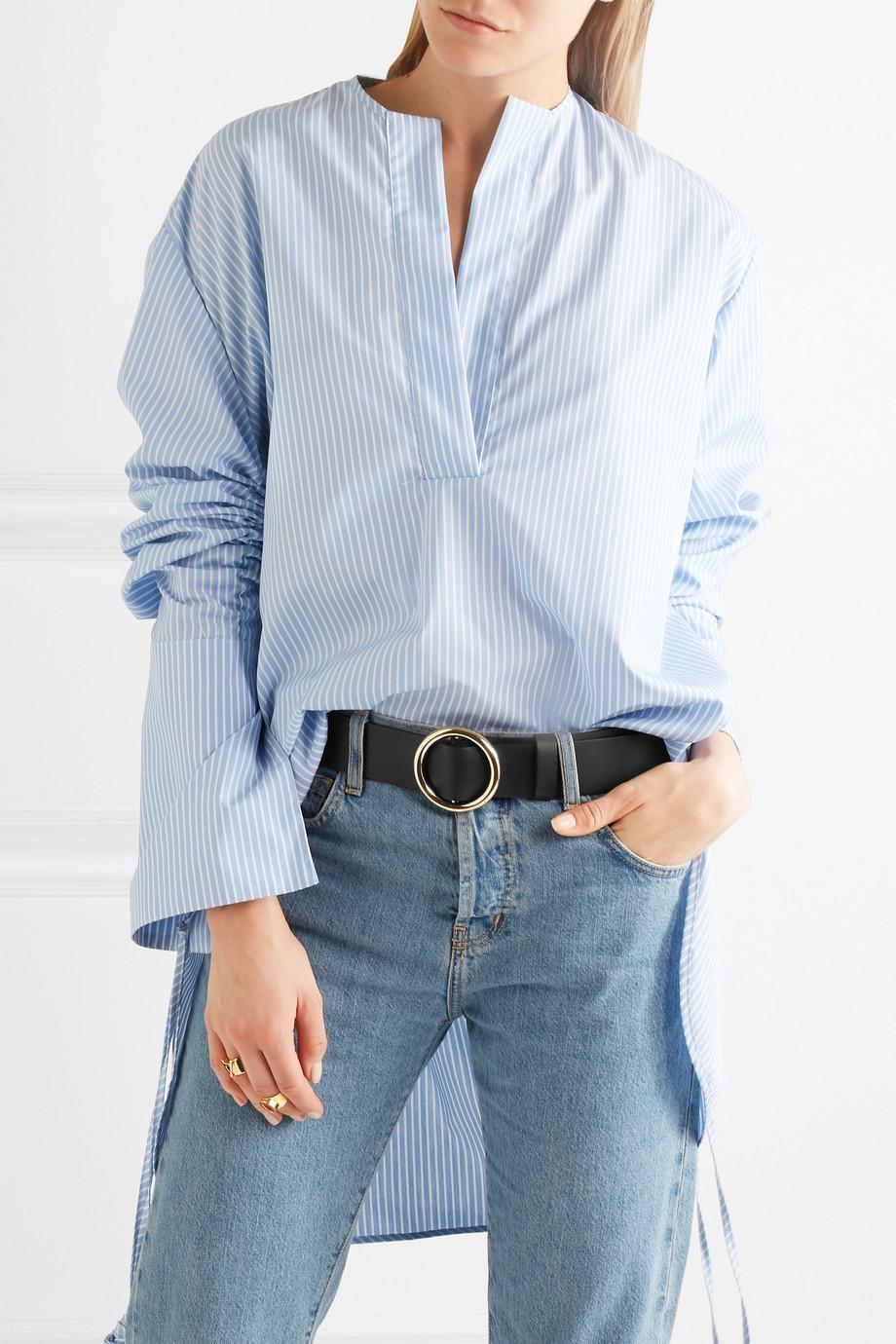 Le Circle Leather Belt - Black Frame Denim VMdRHc