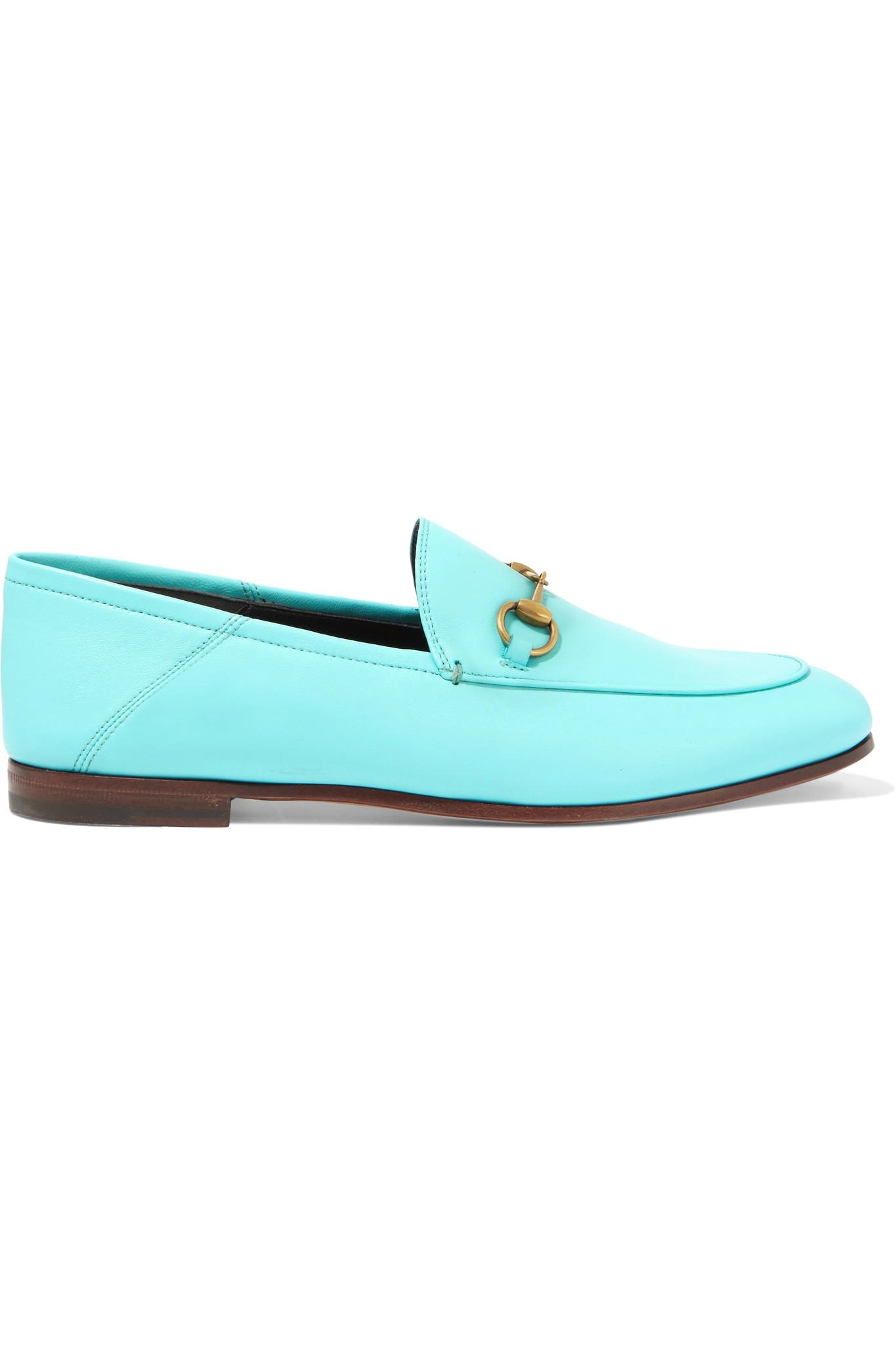 a6868a391ea Lyst - Gucci Horsebit-detailed Leather Loafers in Blue