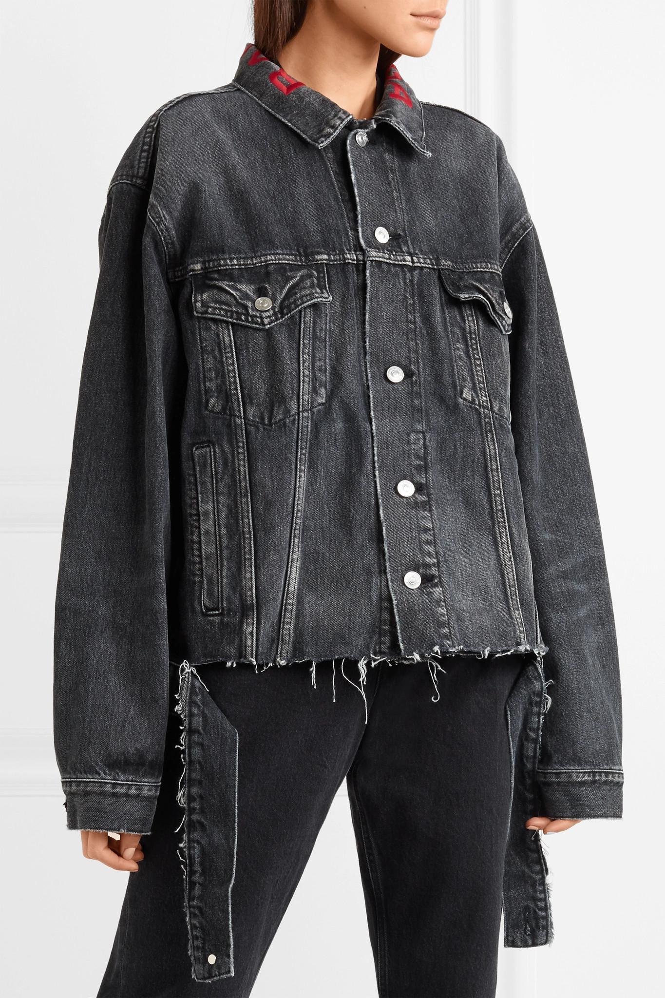 Veste Balenciaga En Broderies Jean À Oversize Noir S6zSq8