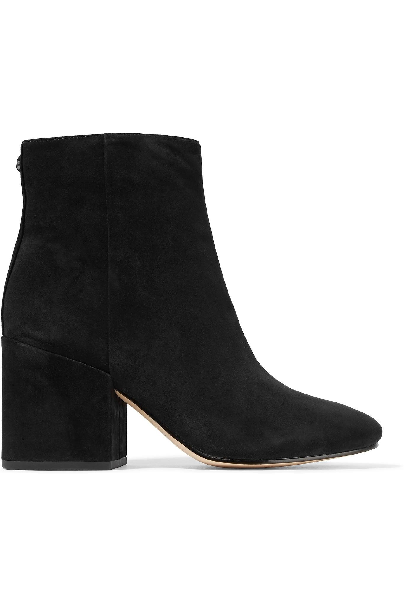 ce91bf5e6b2a4 Sam Edelman Taye Suede Ankle Boots in Black - Lyst