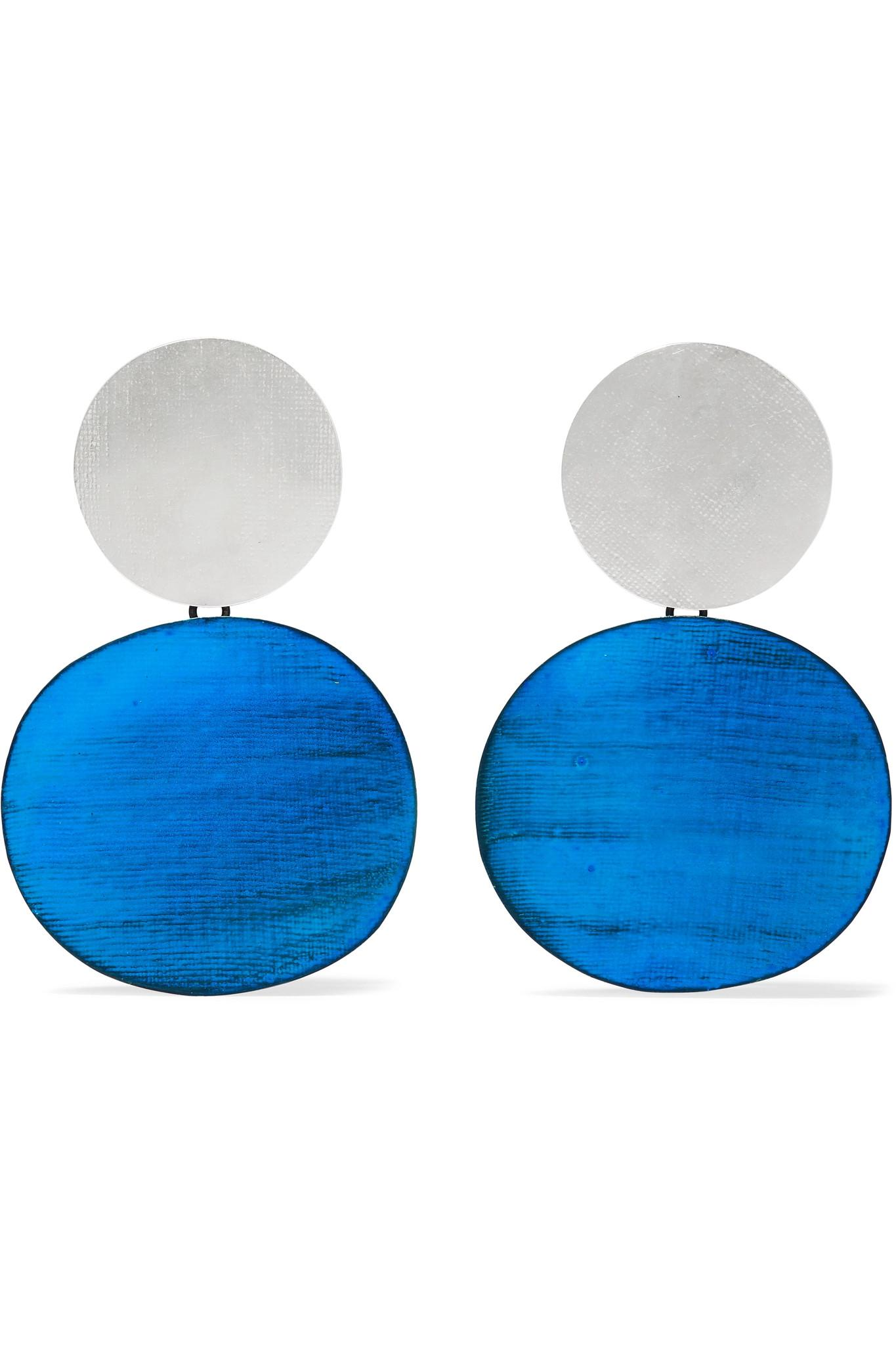 Professional Cheap Price Rain Oxidized Earrings - Blue Annie Costello Brown Best Prices Outlet Order Clearance Explore Online For Sale Q8e8m5