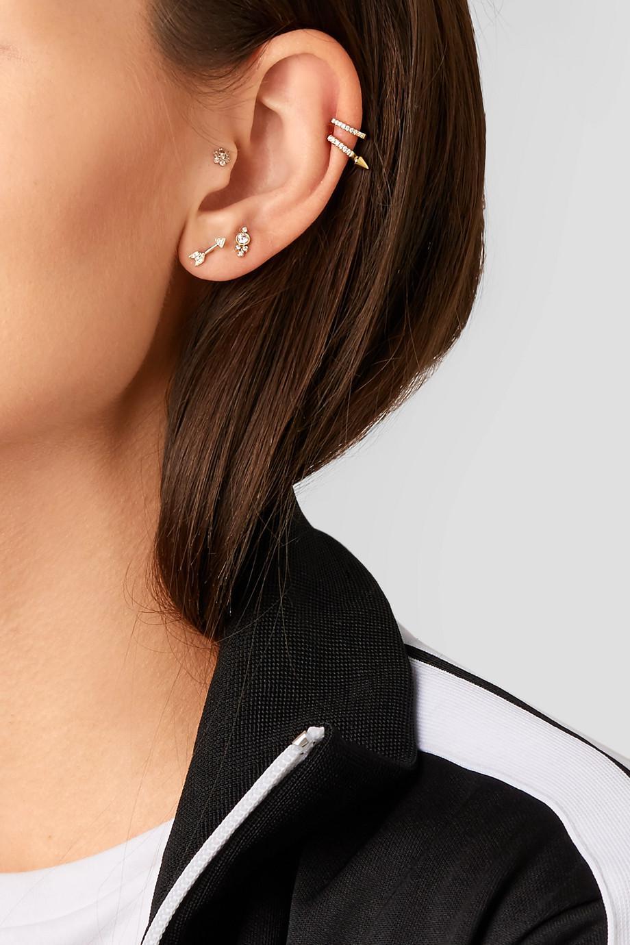 Maria Tash Arrow 18-karat Gold Diamond Earring FZLGU7