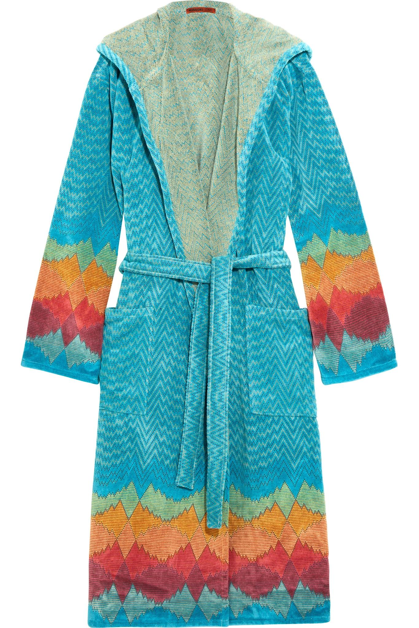 missoni tamara cotton terry robe in blue lyst With robe tamara