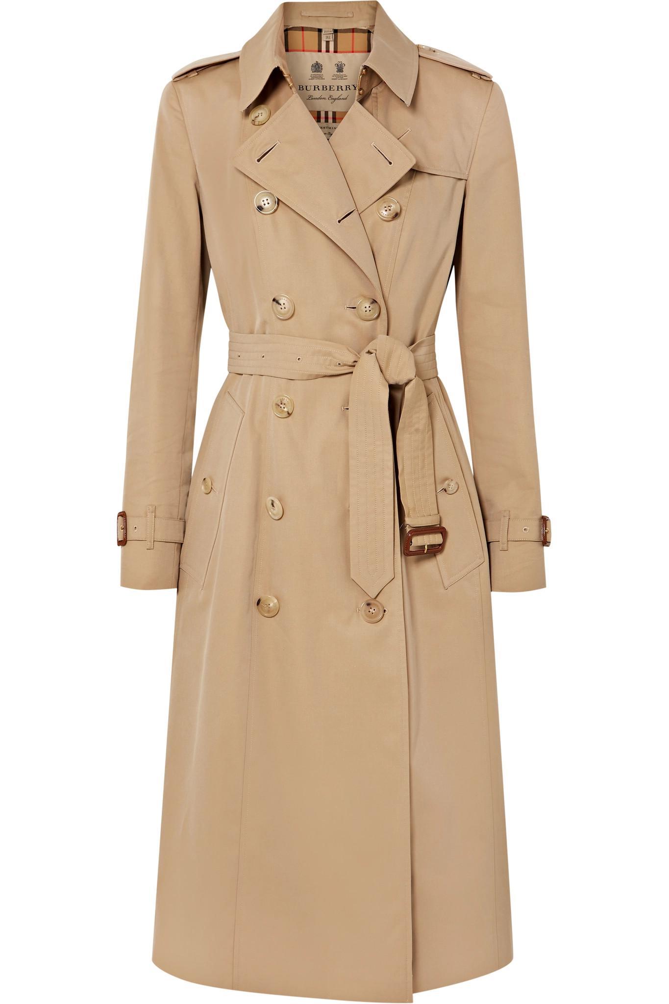 5208e068b7fcb3 Lyst - Trench-coat En Gabardine De Coton The Chelsea Long Burberry ...