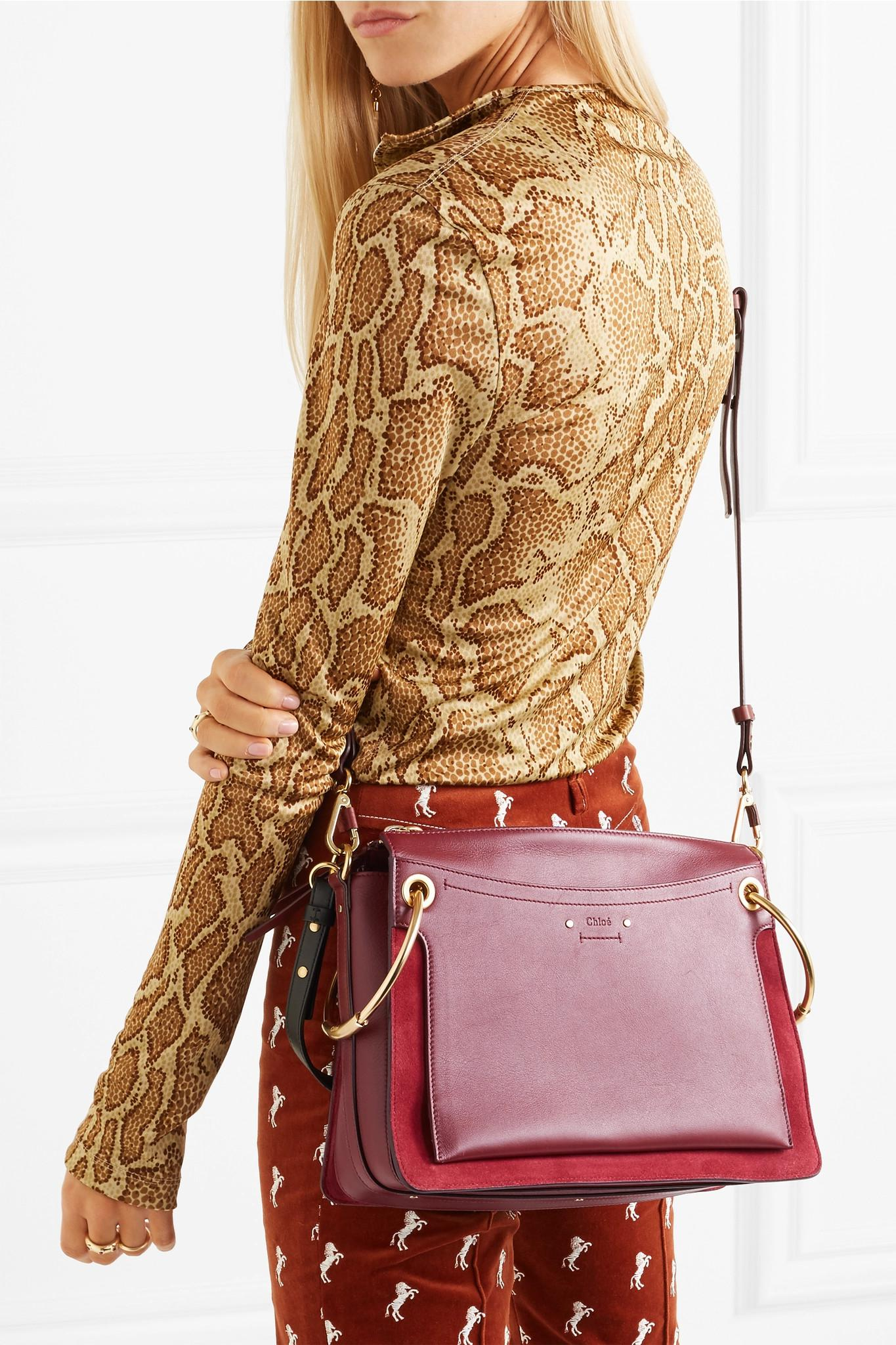 4870224b27 Lyst - Chloé Roy Medium Leather And Suede Shoulder Bag