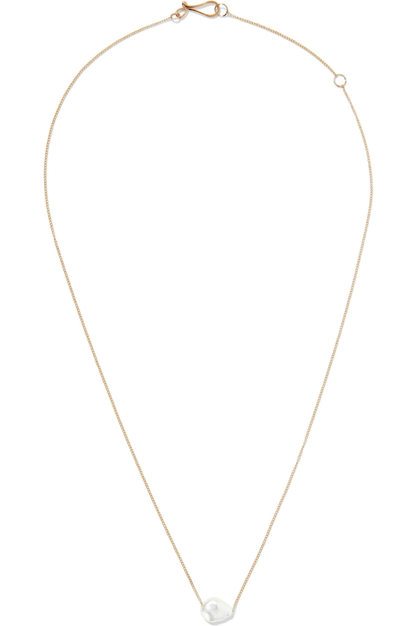 chain link necklace - Grey Melissa Joy Manning IEa8Rh2n