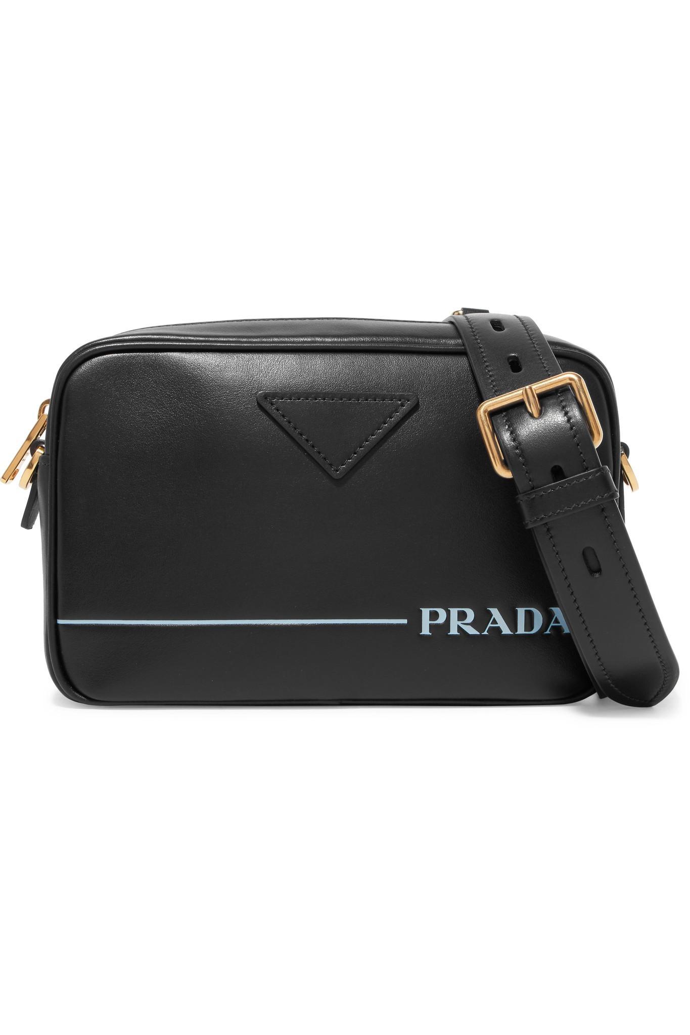 19d1118df08440 Prada Mirage Leather Camera Bag in Black - Lyst
