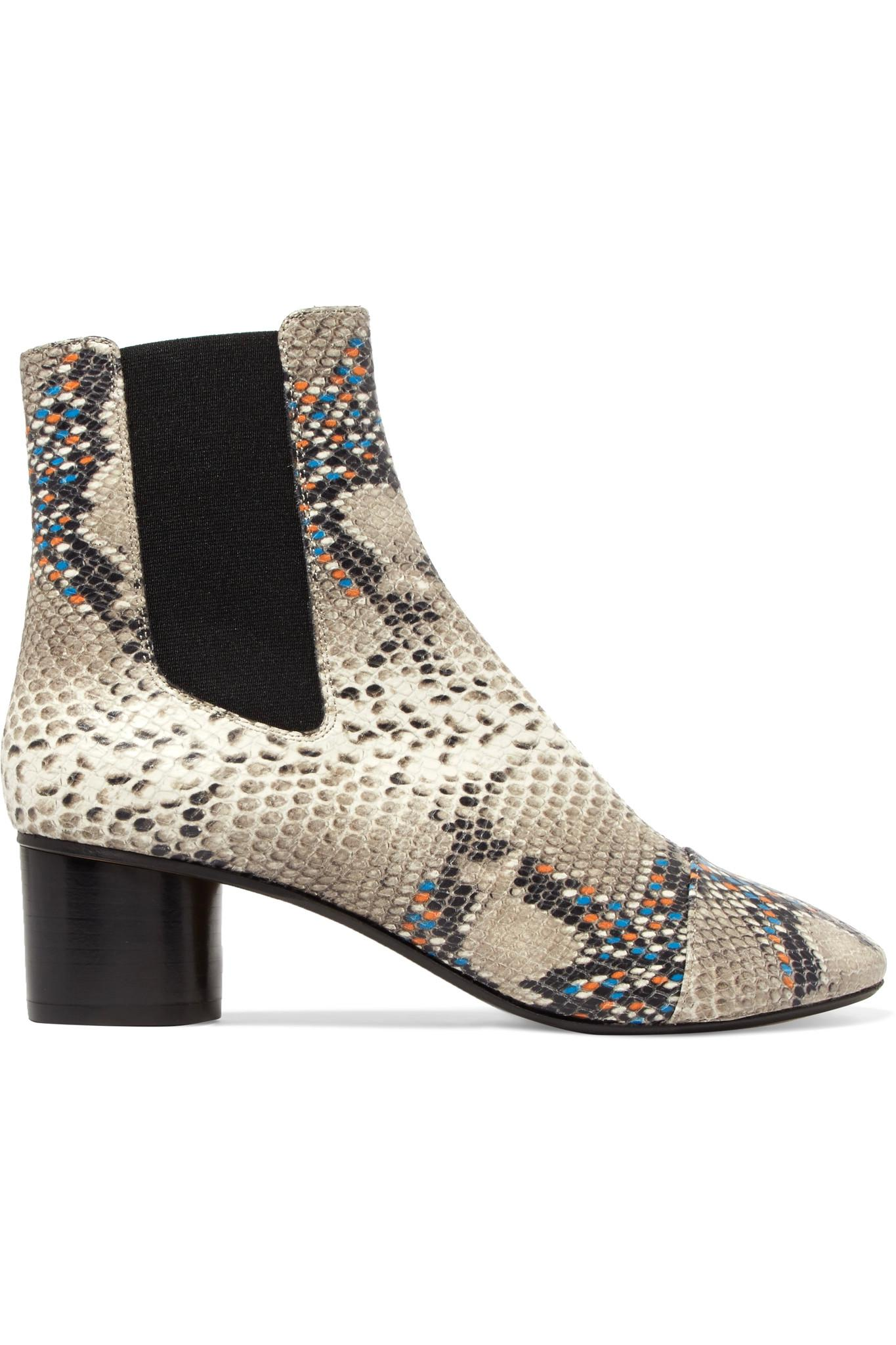 Isabel Bottines Imprimé Serpent Marant - Gris mf7tl