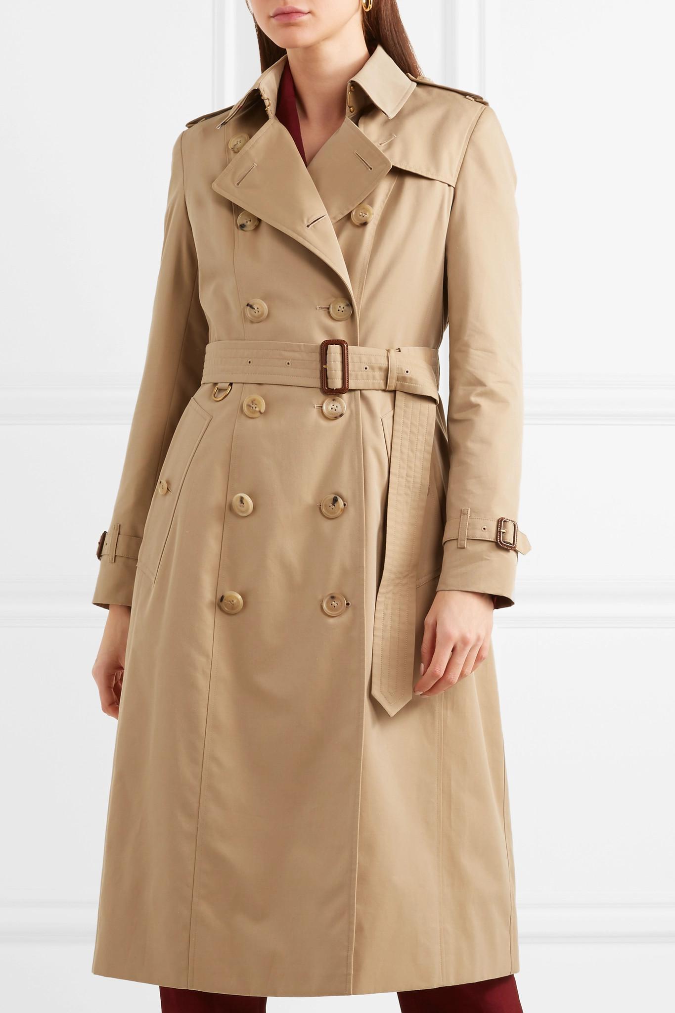 Burberry - Natural Trench-coat En Gabardine De Coton The Chelsea Long -  Lyst. Afficher en plein écran 63d3ec2a8cd
