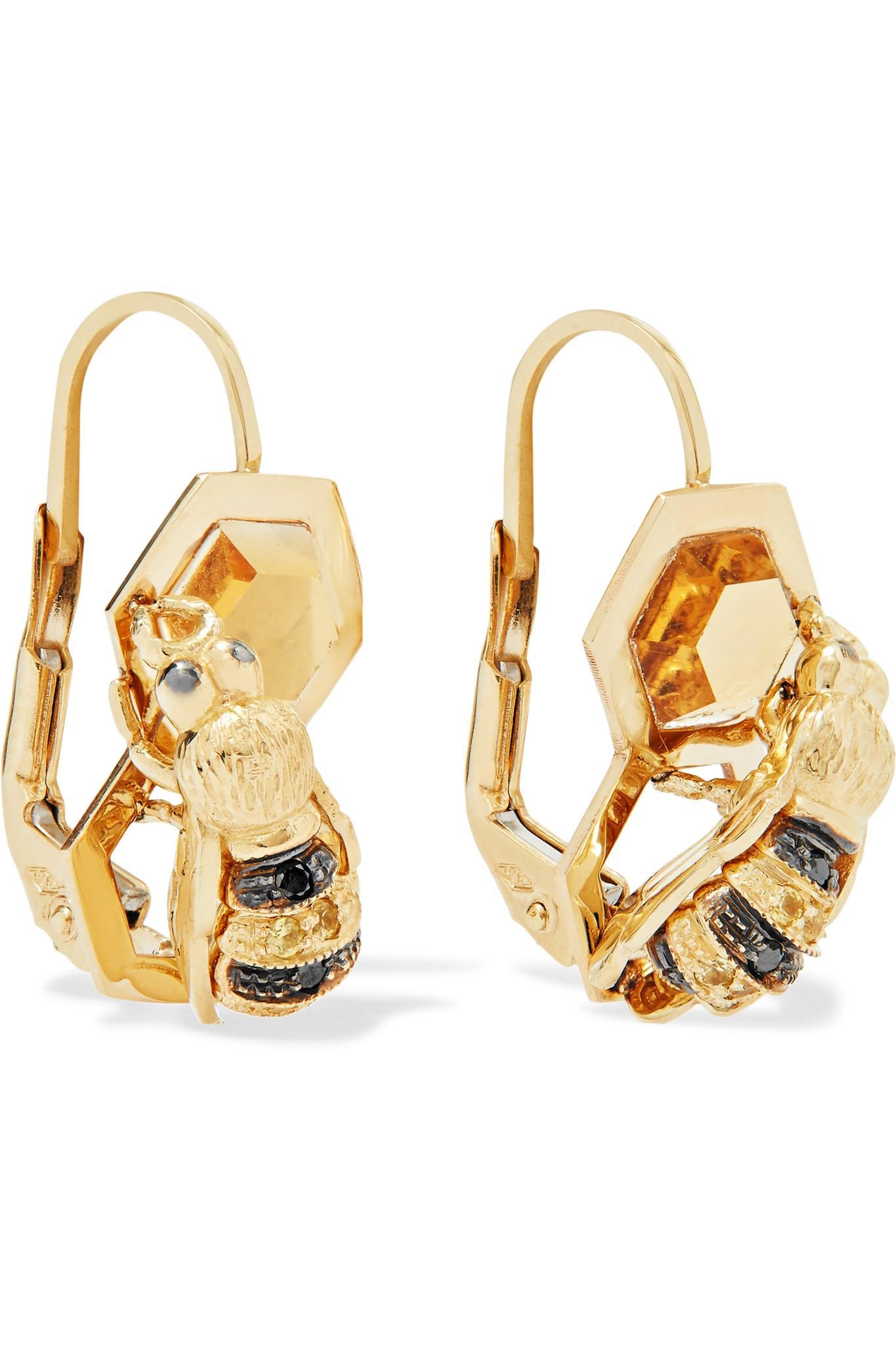 Delfina Delettrez 9-karat Gold Multi-stone Necklace AbOFgq6mPx