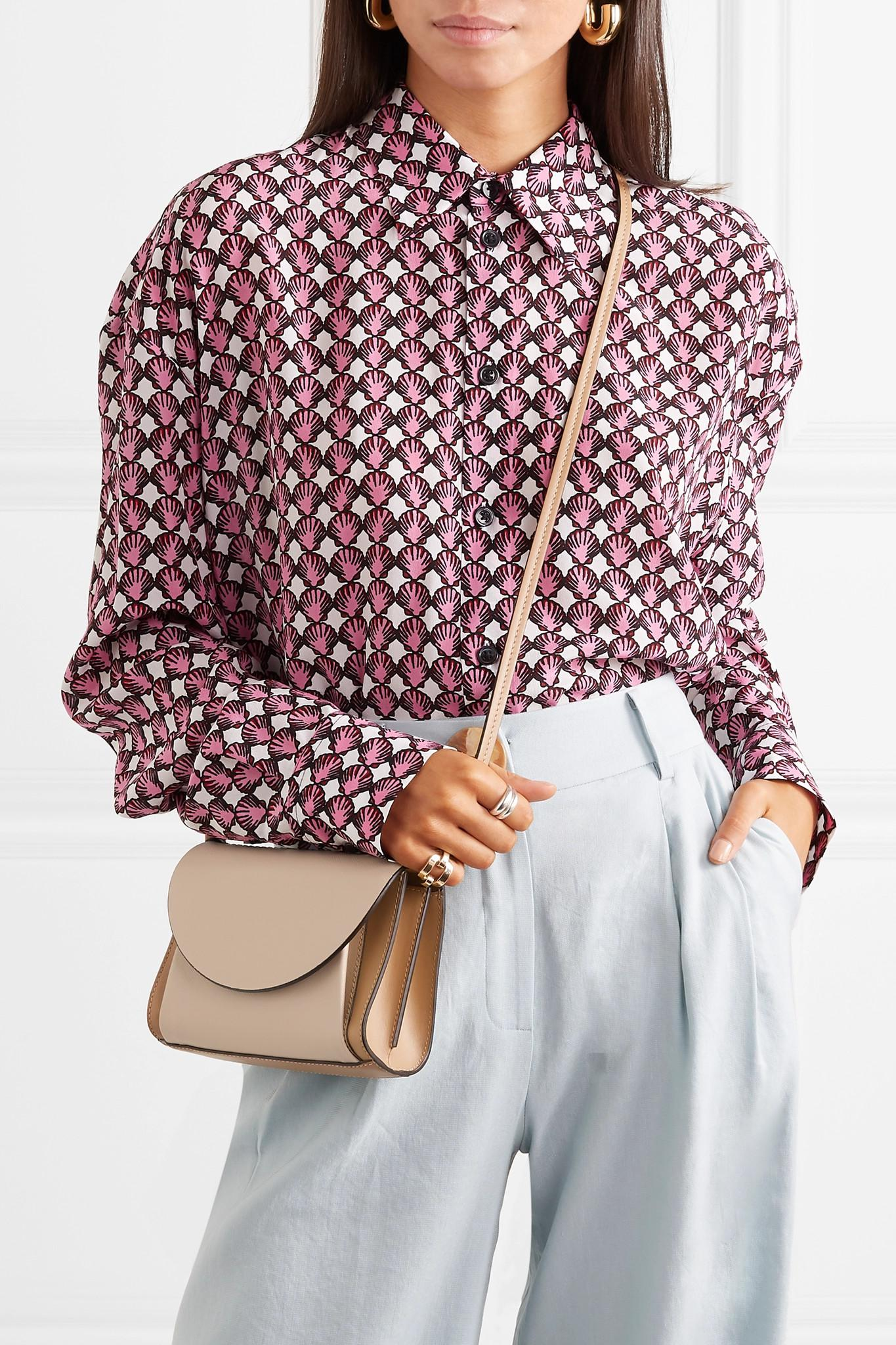 732ca0175509 Lyst - Marni Pochette Two-tone Textured-leather Belt Bag