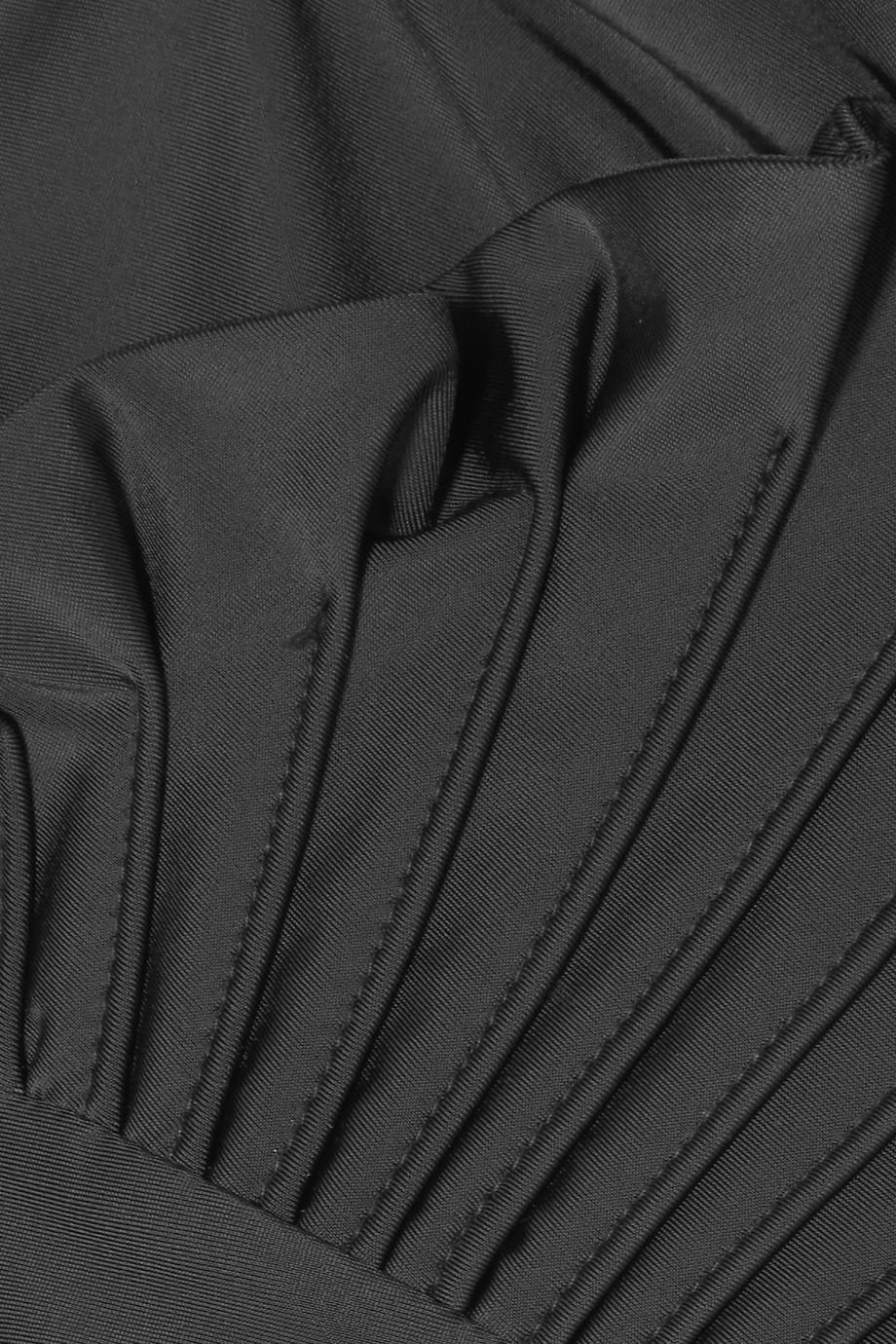 7eba6ec217ab Lyst - Paper London Pleated Ruffled Swimsuit in Black