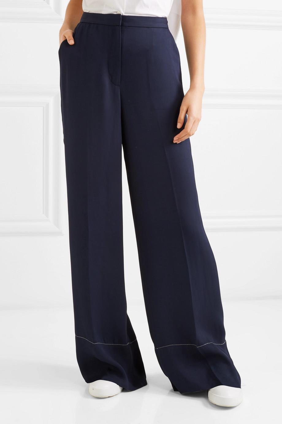 Harmon Crepe Wide-leg Pants - Navy Elizabeth & James uLJrCqrMjm