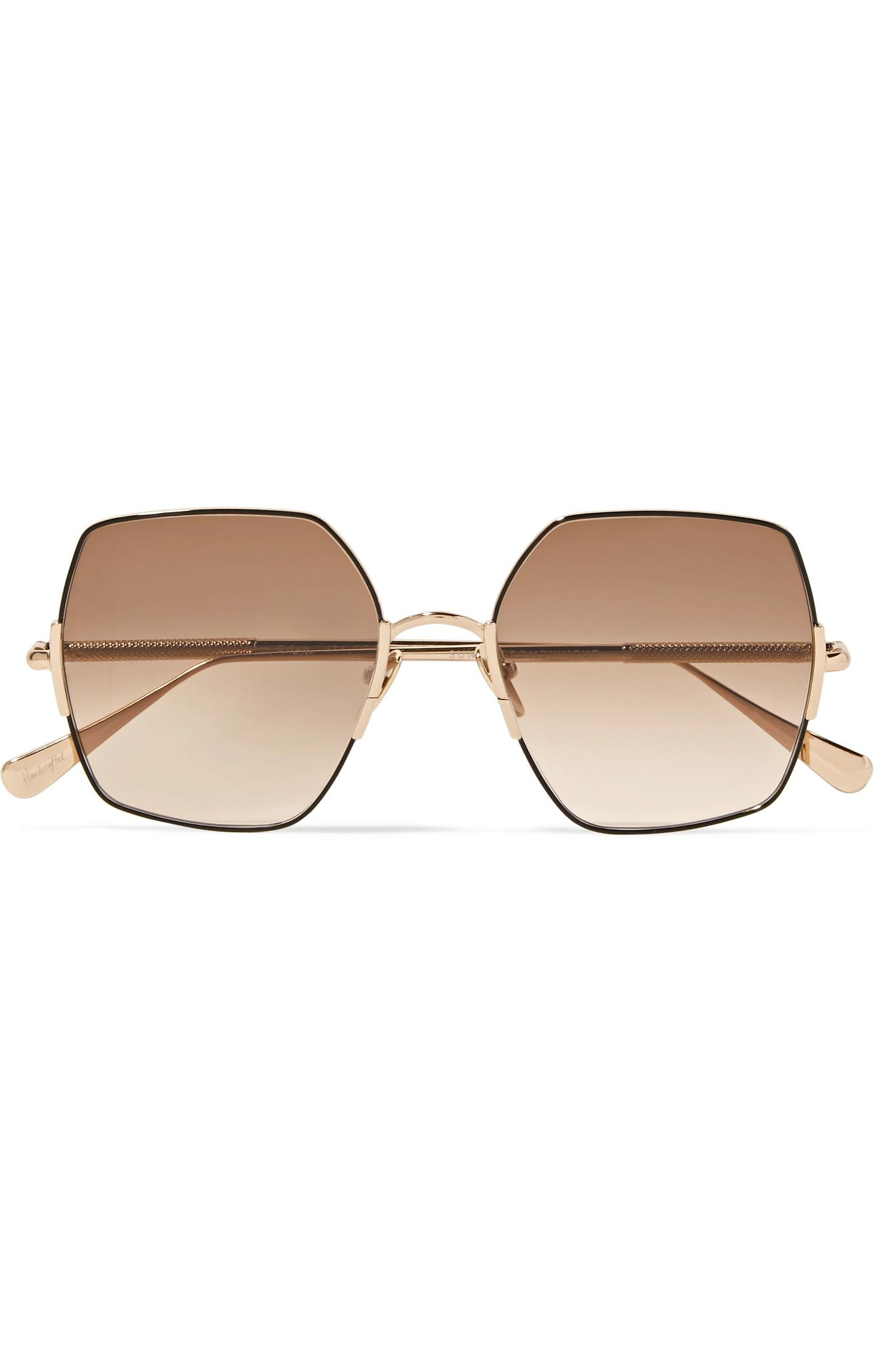 091676a9ac8 Lyst - Sunday Somewhere Eden Oversized Square-frame Gold-tone ...
