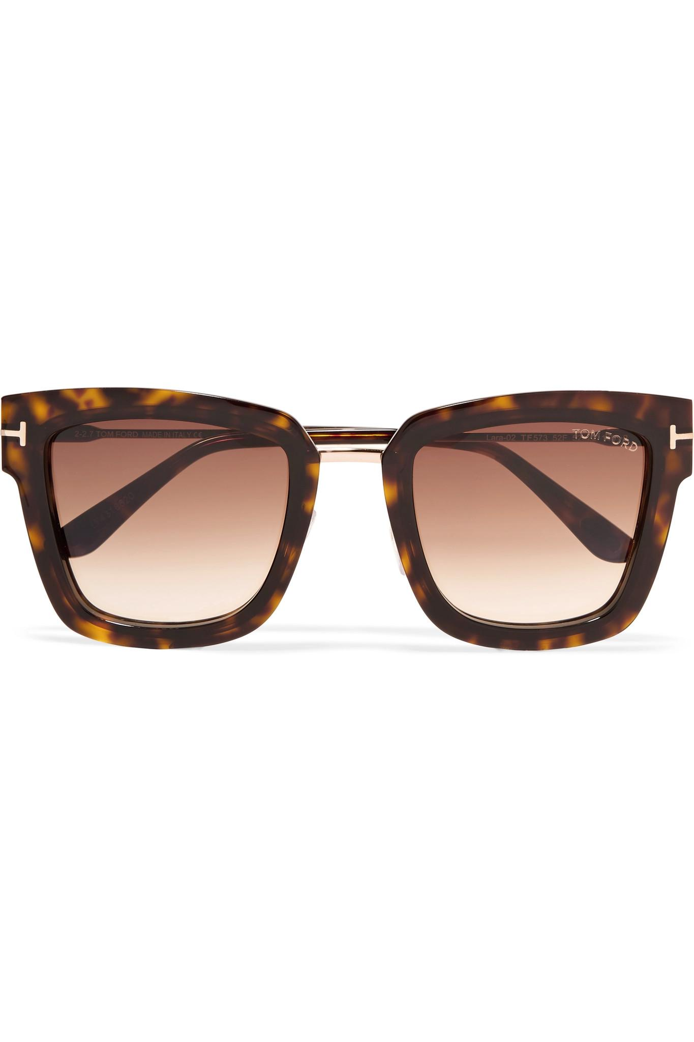 89a01649ae7d Tom Ford Square-frame Tortoiseshell Acetate Sunglasses in Brown - Lyst