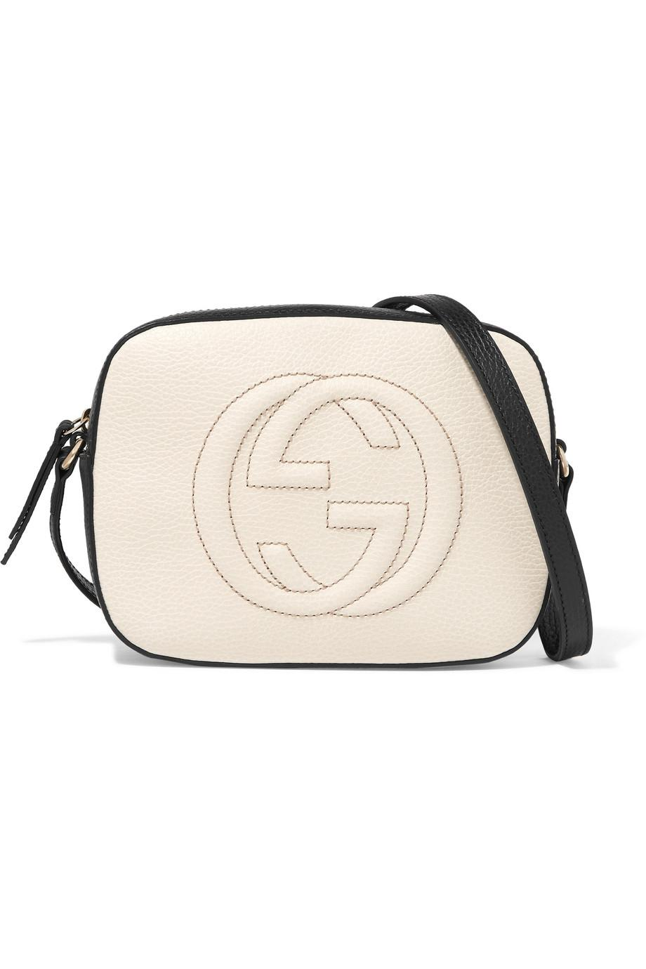 60c80dccb63 Lyst - Gucci Soho Disco Textured-leather Shoulder Bag in White