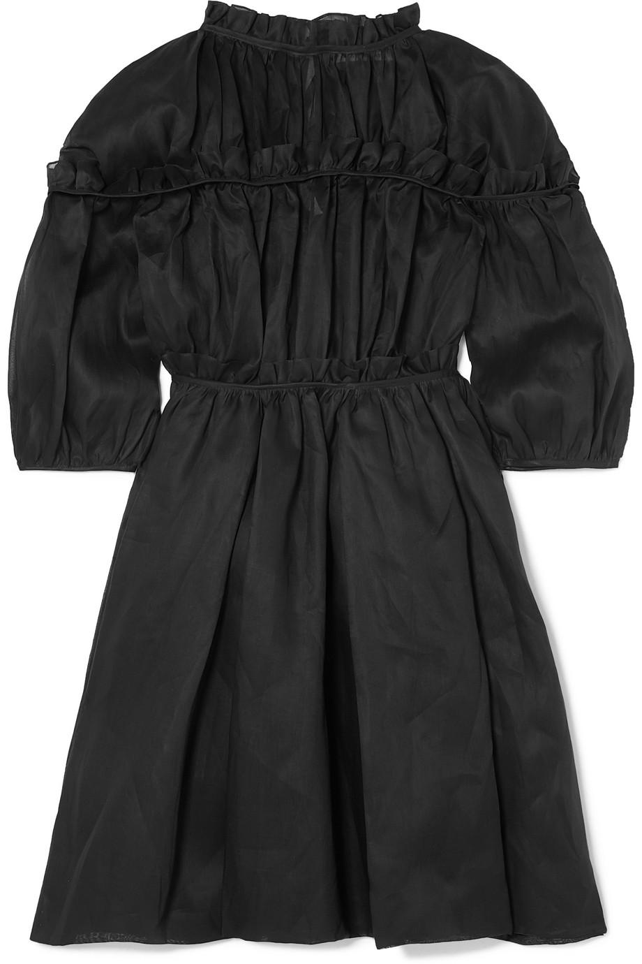 Carmen Ruffled Cotton-organza Dress - Black Cecilie Bahnsen xL1cELtcy