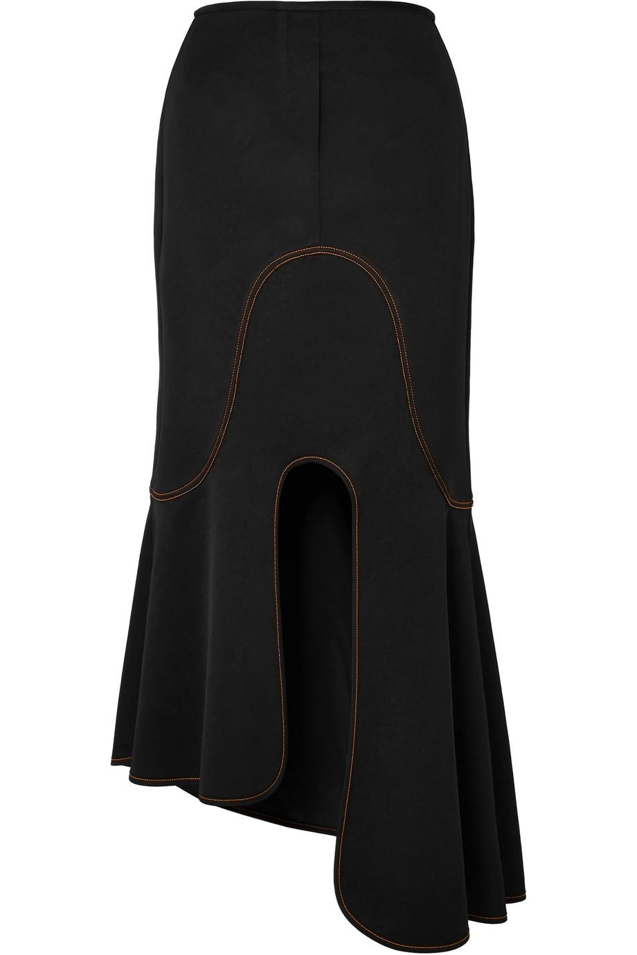 Sale Authentic Dasha Striped Ribbed-knit Midi Skirt - Black Ellery New Styles Cheap Price Buy Cheap The Cheapest hhKfuMJ