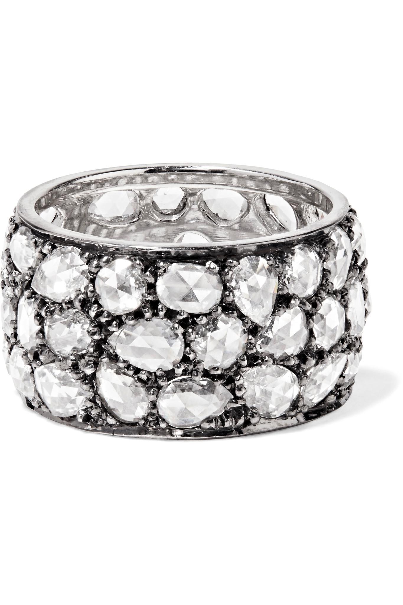 Collection Anneau De Diamant De Platine - Argent Fred Leighton YOHEfzJ