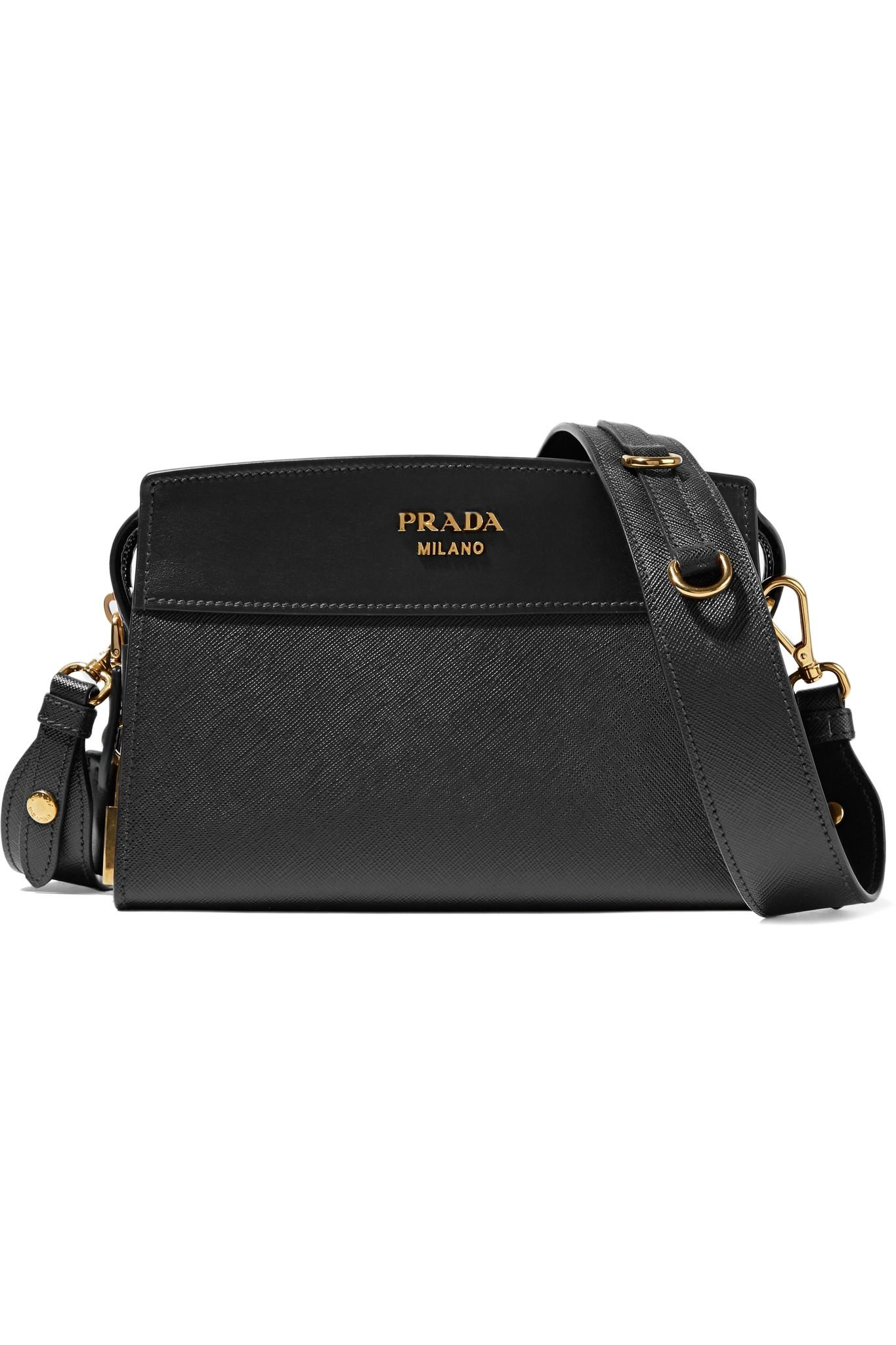 6aa261d6e0e9 ... sweden prada esplanade small textured leather shoulder bag in black lyst  968f3 40df0
