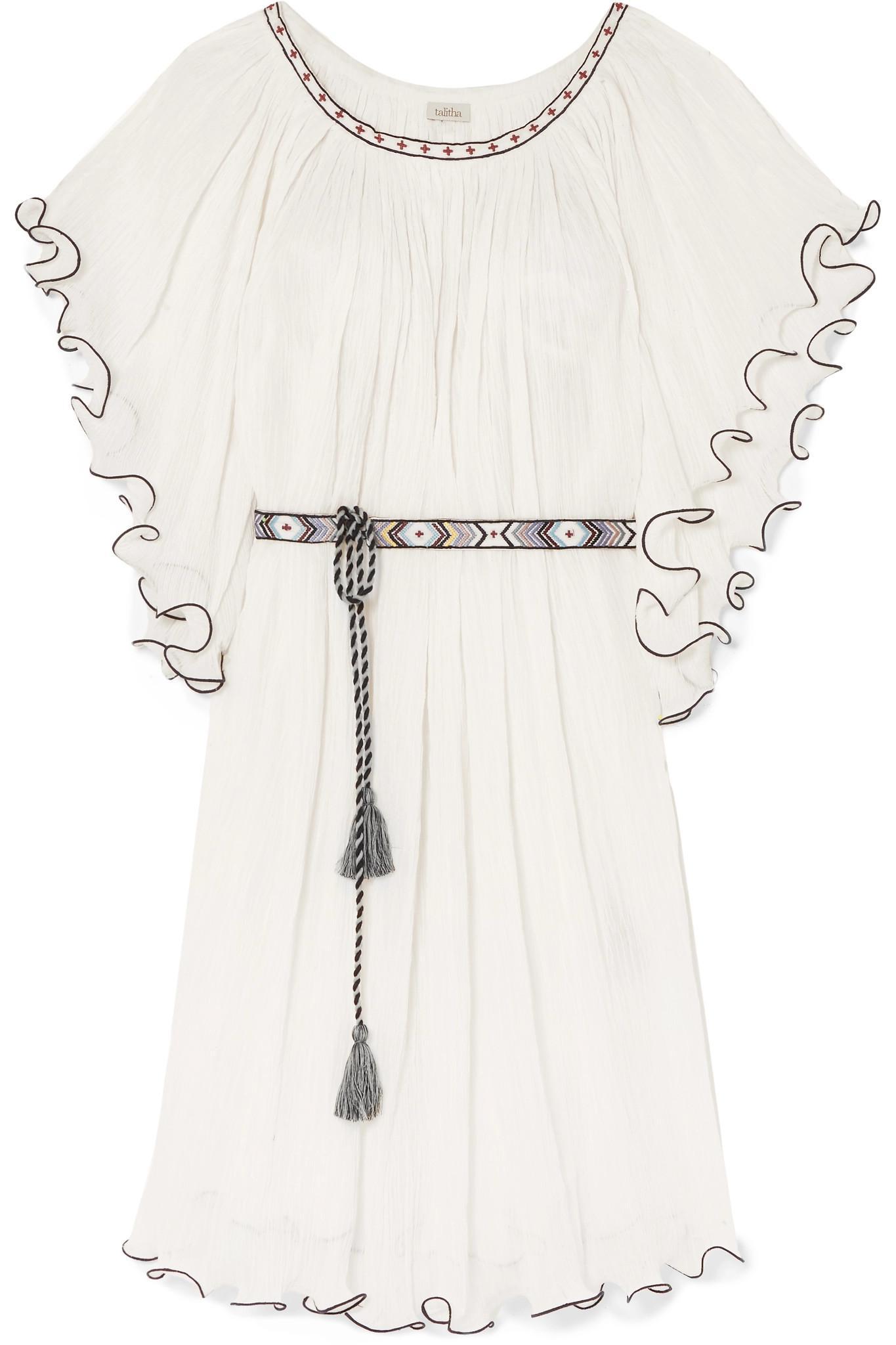 Serena ruffle-edged cotton dress Talitha YEkrQ6iVP7
