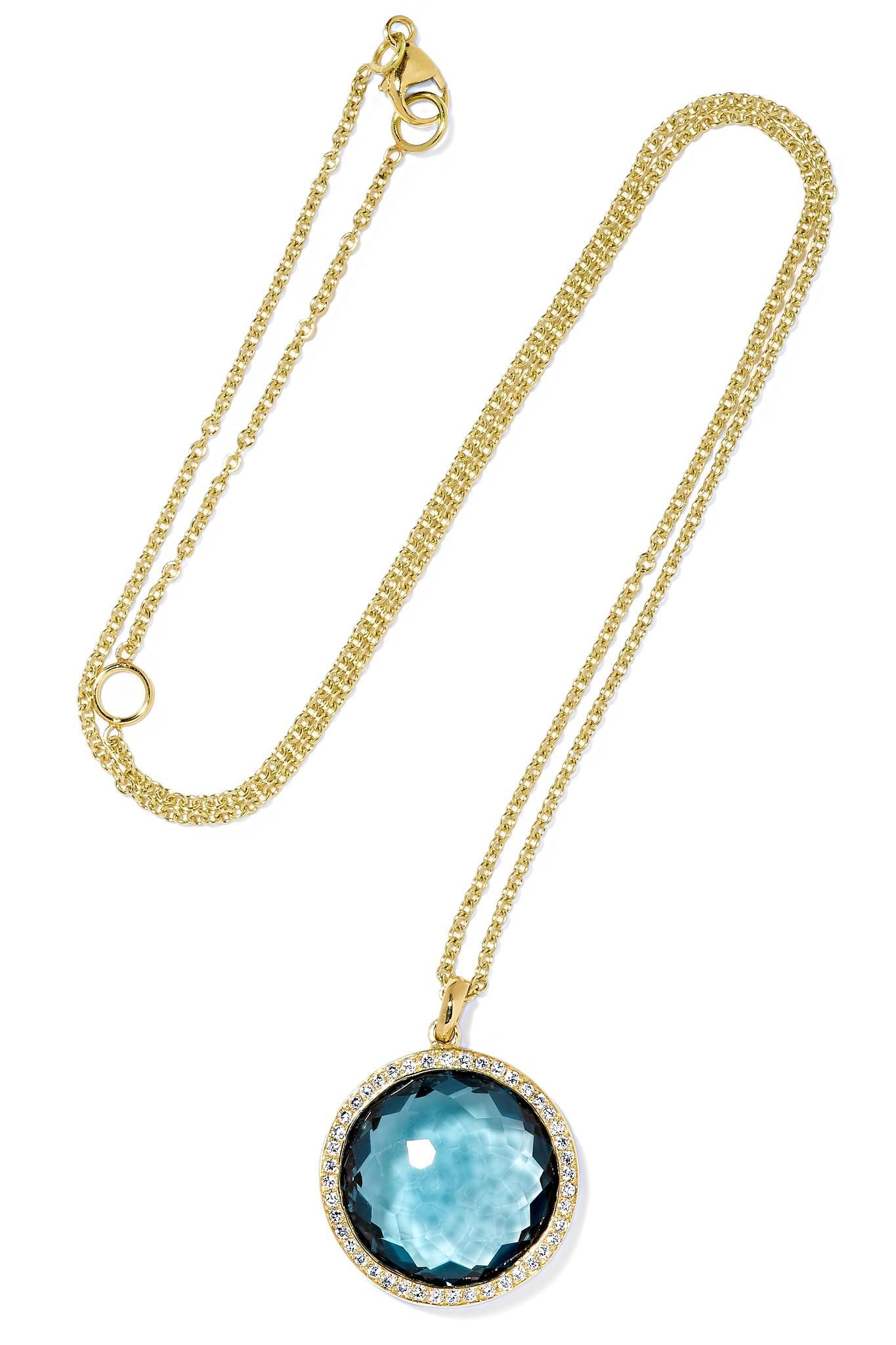 Ippolita Rock Candy Lollipop 18-karat Gold Topaz Necklace bAsfl5eYX