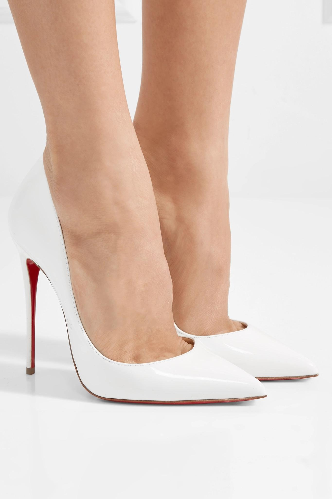 180be6d230a7 Christian Louboutin - White So Kate 120 Patent-leather Pumps - Lyst. View  fullscreen
