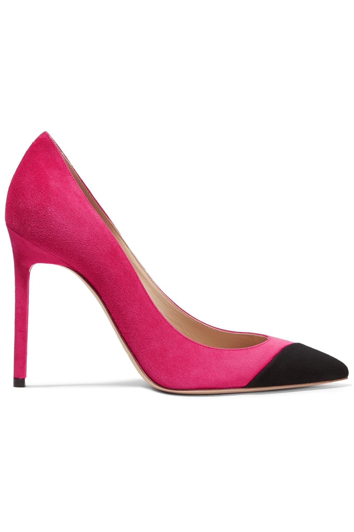 Saint Laurent Anja 105 Pompes - Rose Et Violet q3tl5