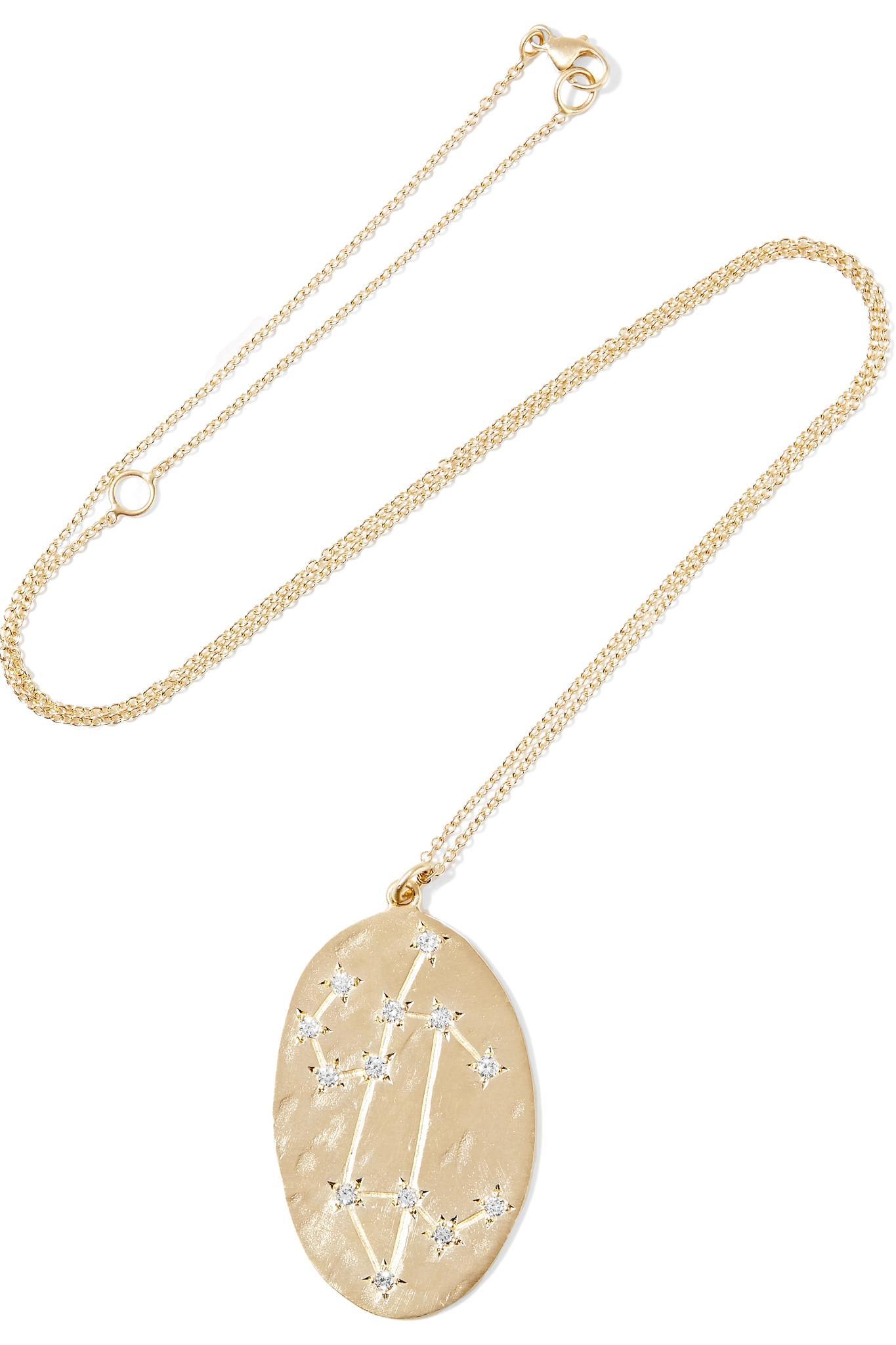 Brooke Gregson Aries 14-karat Gold Diamond Necklace ebu4XQno