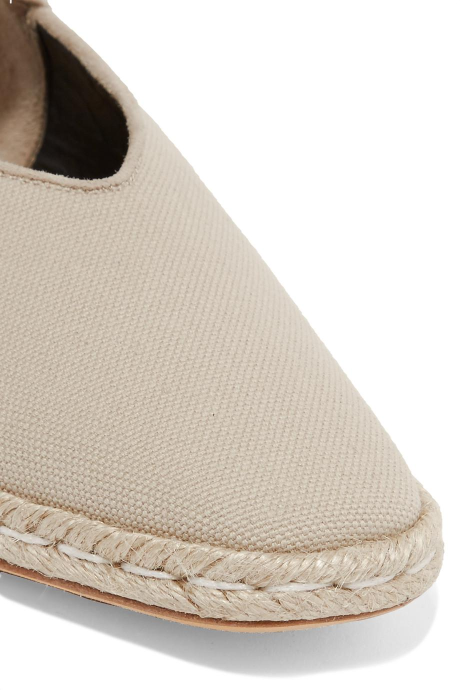 Suede-trimmed Canvas Espadrilles - Beige J.W.Anderson