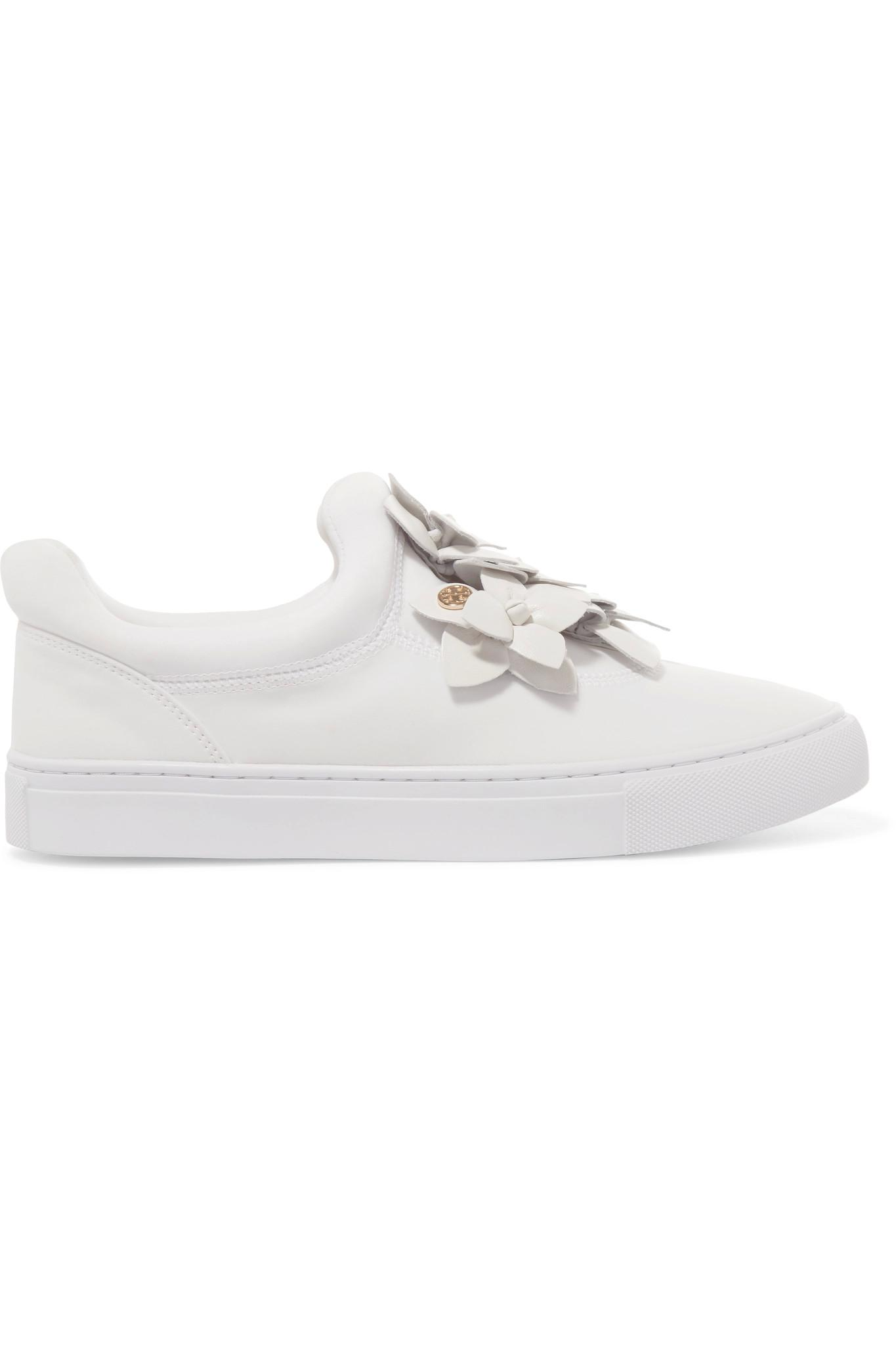 Tory Burch Floral Appliqué Slip-On Sneakers really cheap price TQWMFf6rq