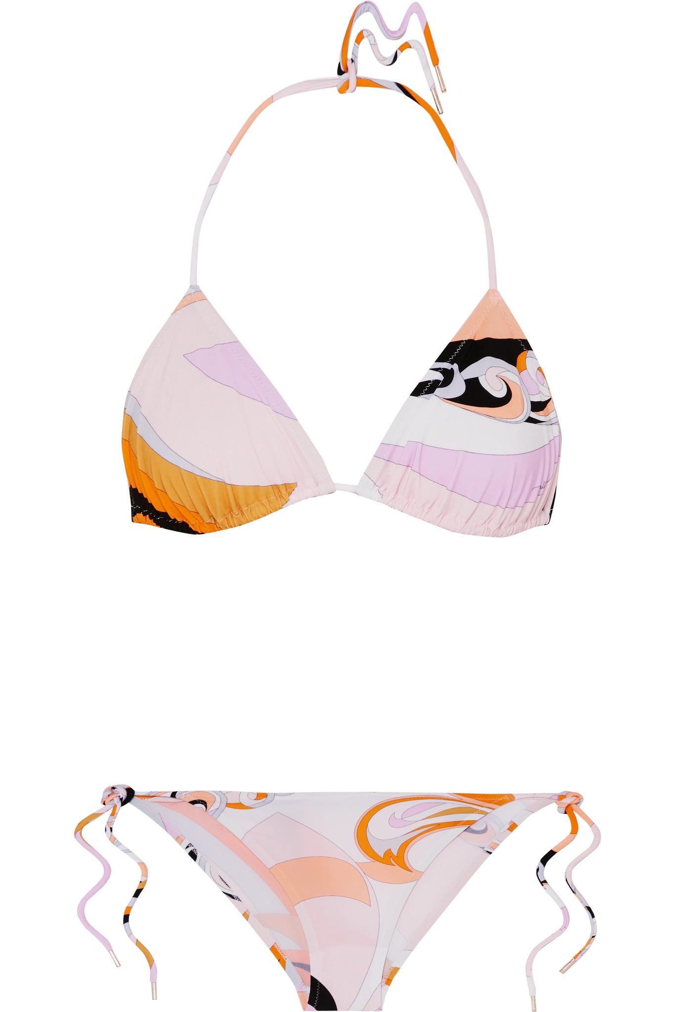 Cheap Sale Official Site printed triangle bikini set - Yellow & Orange Emilio Pucci Browse Cheap Price Buy Best Low Cost Cheap Price Buy Cheap 2018 Unisex 9fW3AlDV