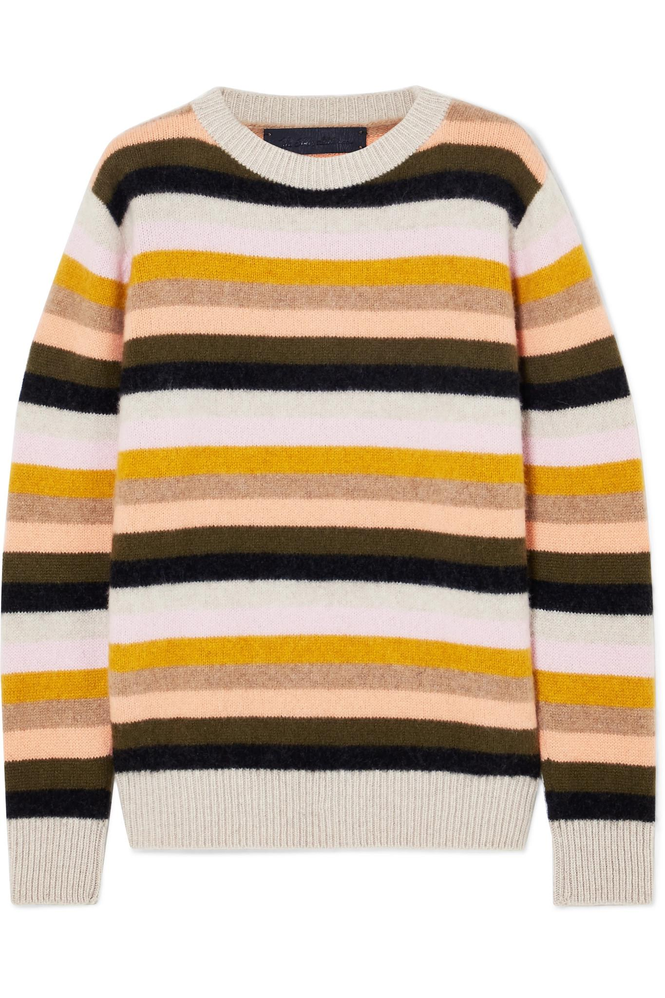 Classic striped sweater - Yellow & Orange The Elder Statesman Wiki Buy Cheap Best Seller y9hVKPwCZ