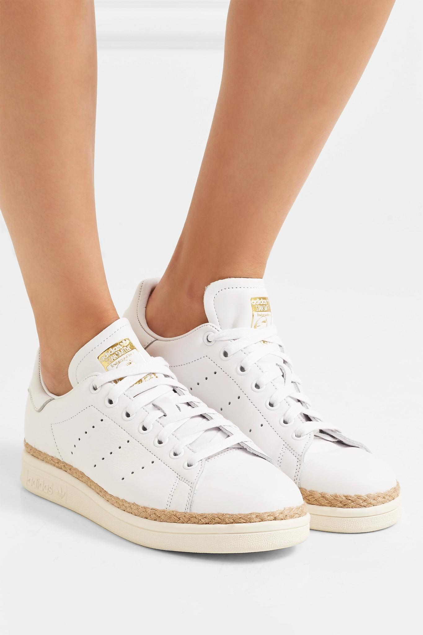 2203694e597 Adidas Originals - White Stan Smith Bold Rope-trimmed Leather Sneakers -  Lyst. View fullscreen