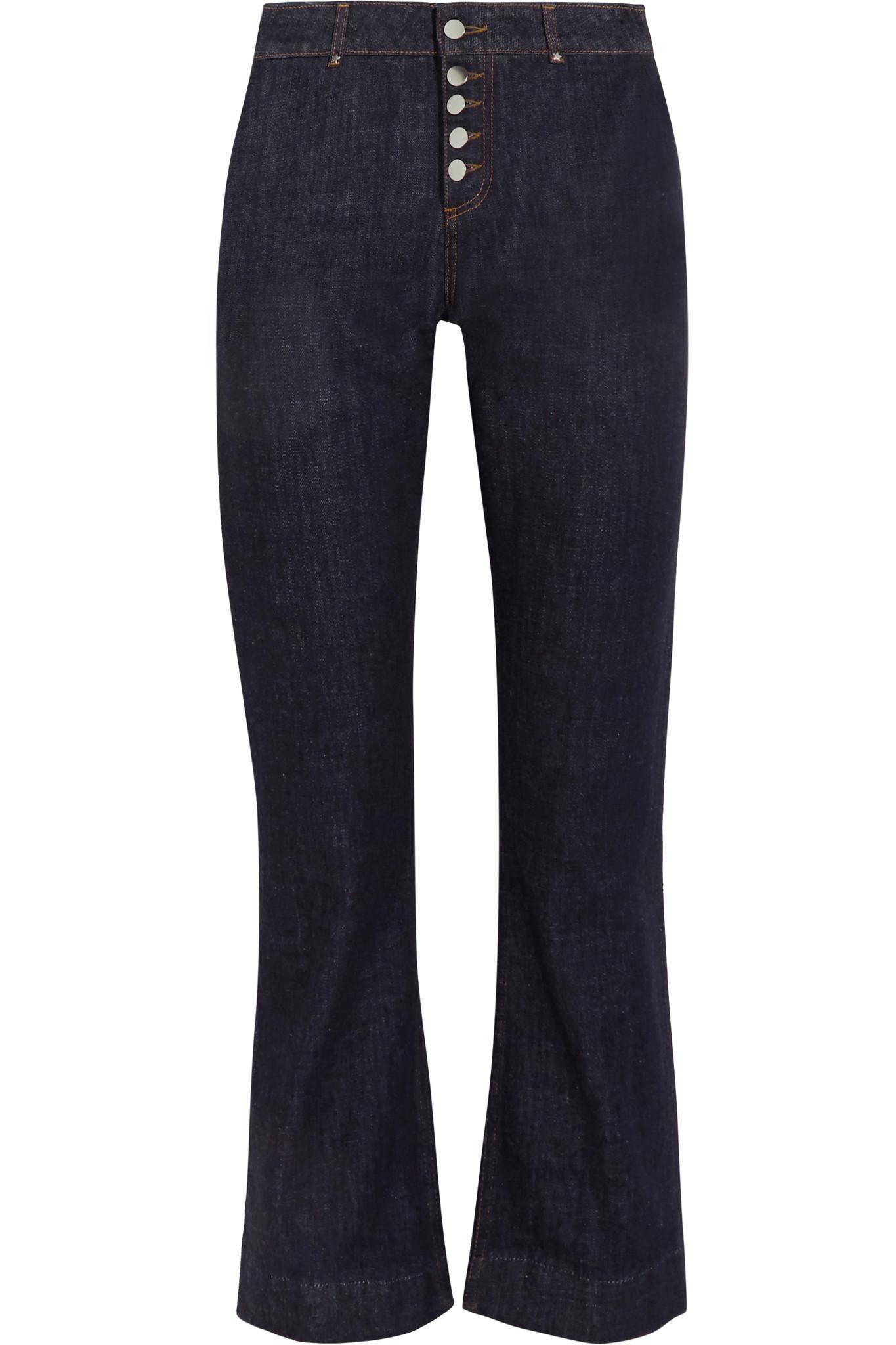 Mid-rise Straight-leg Jeans - Dark denim AlexaChung Cheap Sale Enjoy Recommend Cheap Online Cheap Sale Inexpensive Outlet Huge Surprise Sale Real Veul7NUx
