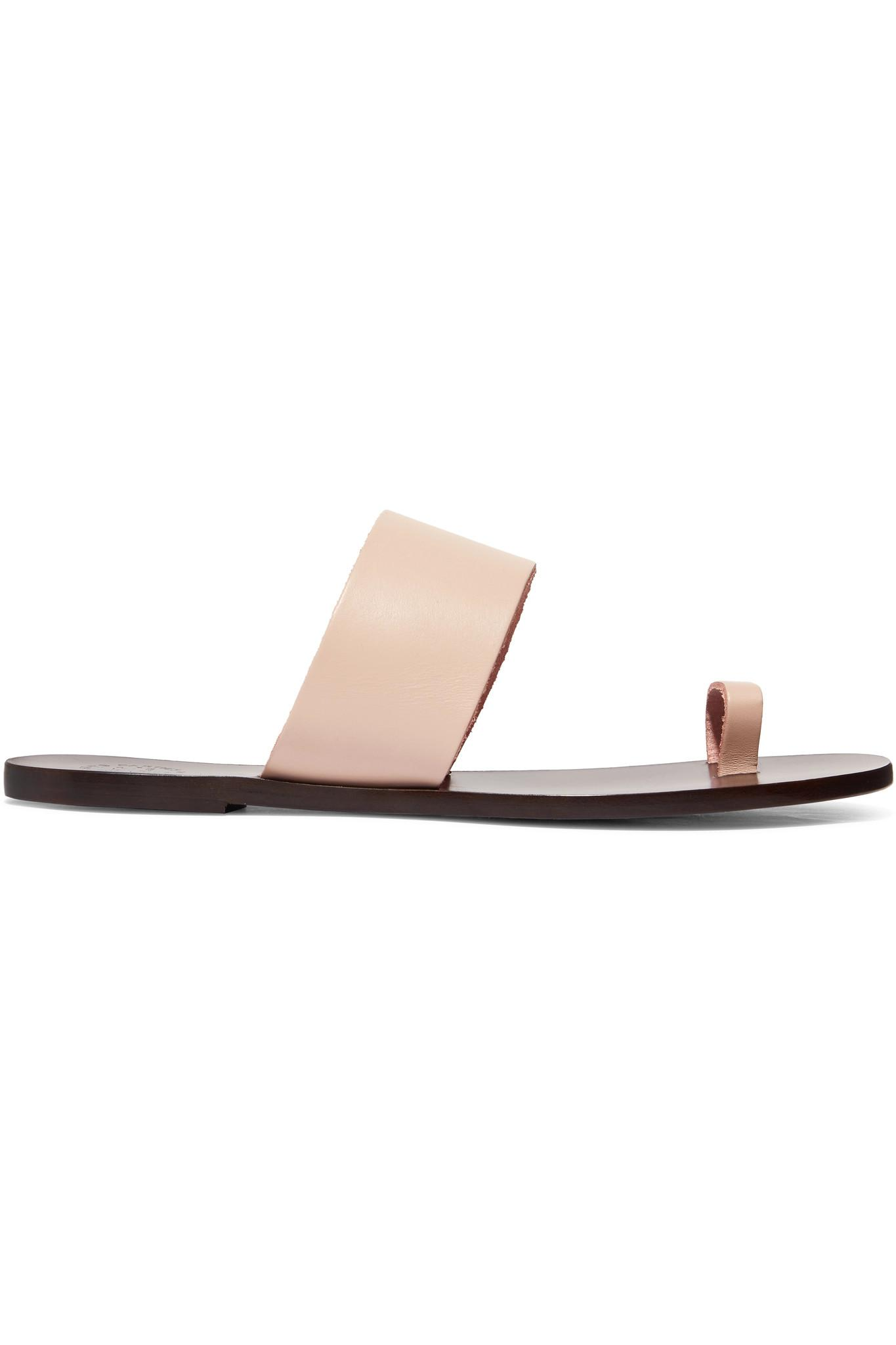 Astrid Leather Sandals - Pink ATP Atelier Outlet Release Dates 6N8QT