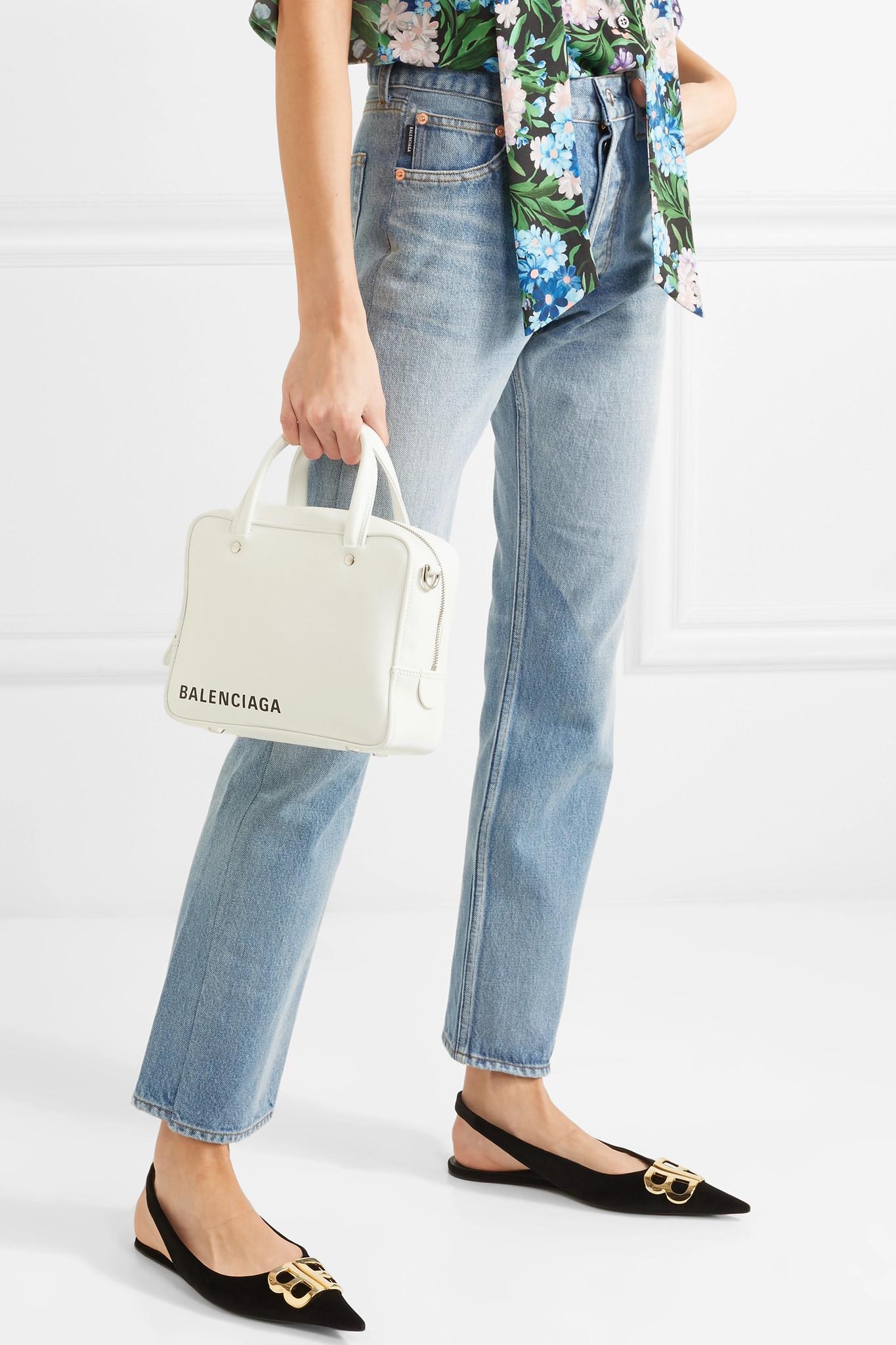 c72cee9c4c4f2 Lyst - Balenciaga Triangle Square Xs Aj Printed Leather Shoulder Bag ...