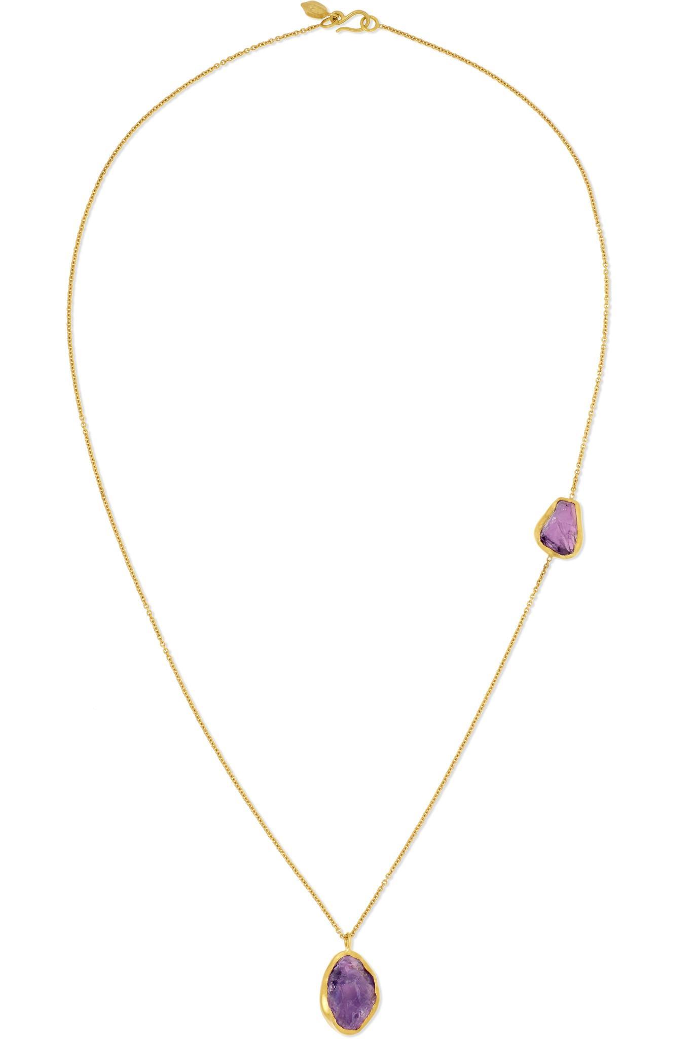 Pippa Small 18-karat Gold Amethyst Necklace zm1gI