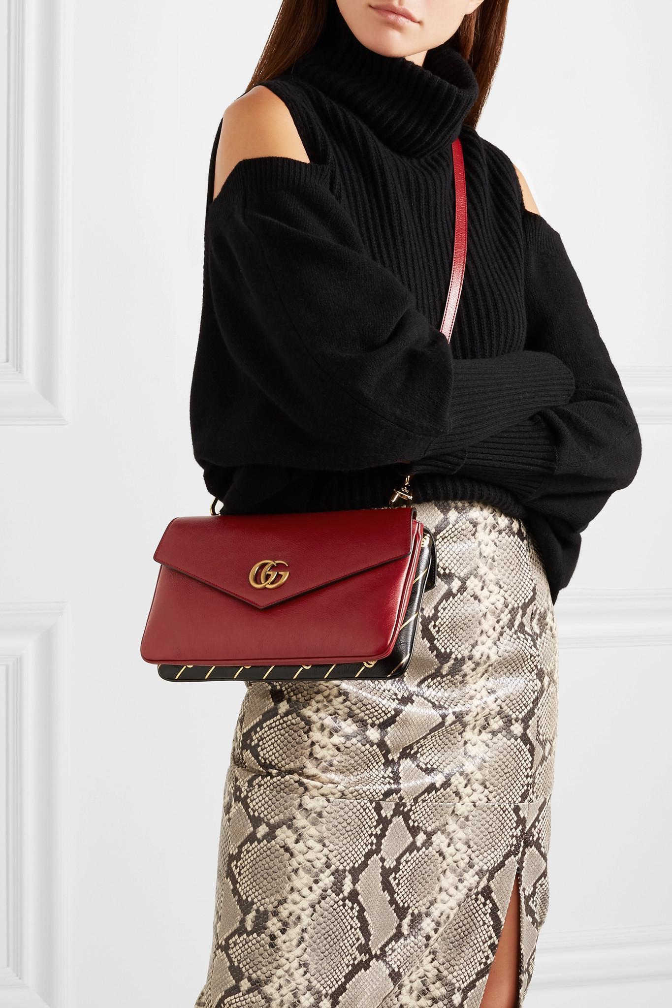 e59646ff363 ... Thiara Embellished Printed Leather Shoulder Bag - Lyst. View fullscreen