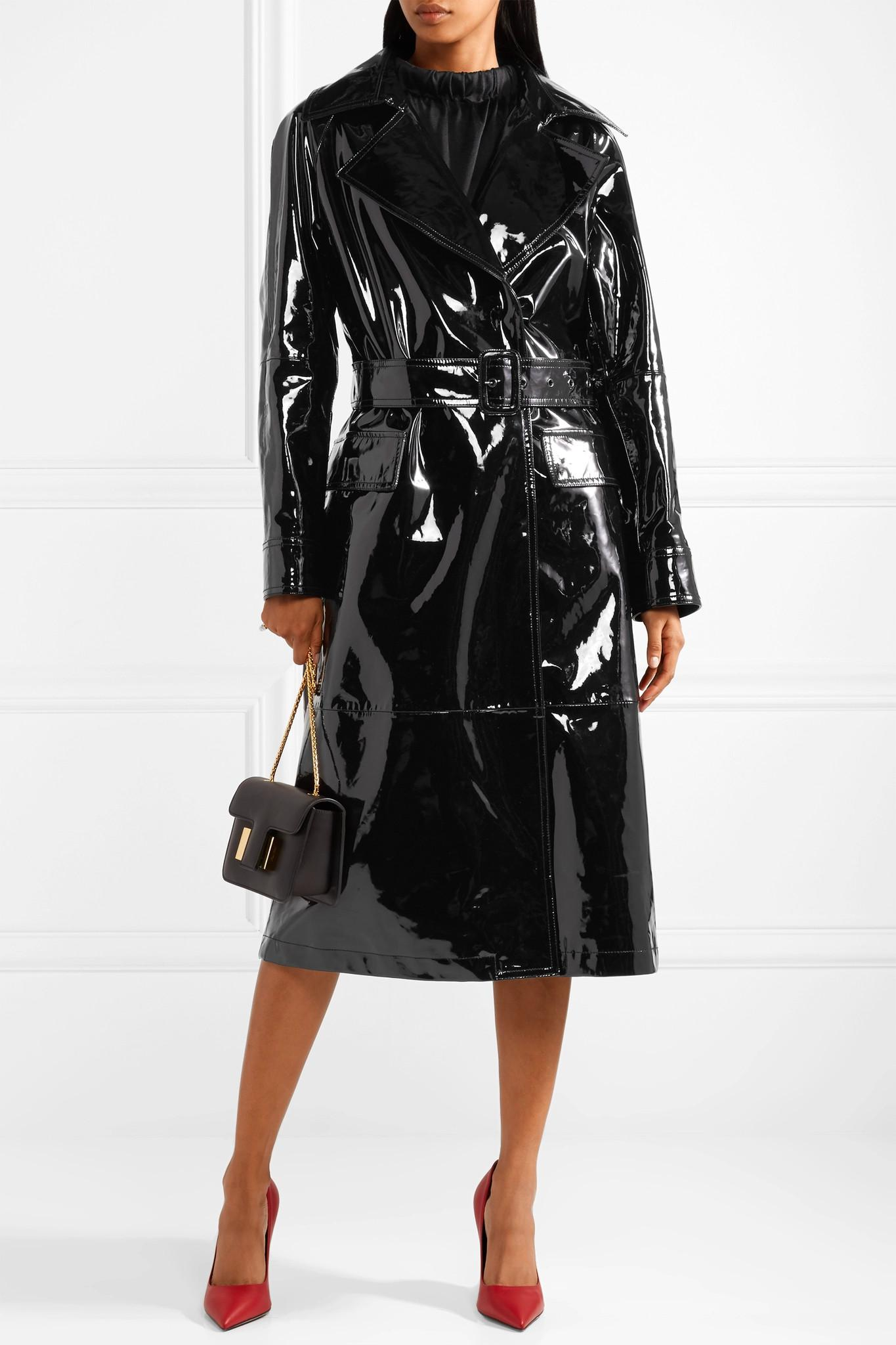 21fb803a6707 Lyst - Tom Ford Patent-leather Trench Coat in Black