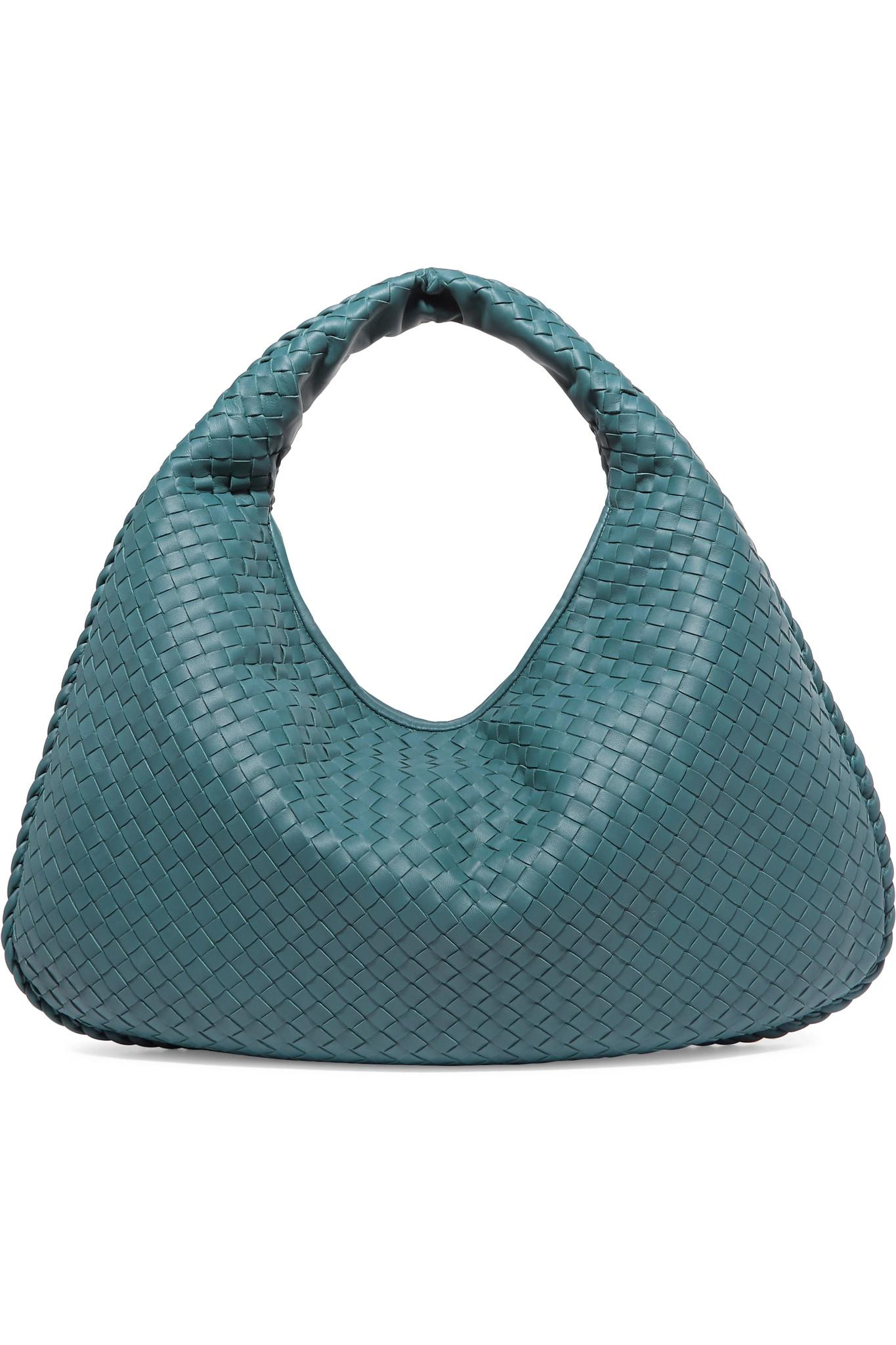 Bottega Veneta. Women s Blue Veneta Large Intrecciato Leather Shoulder Bag dd8ed2cd65