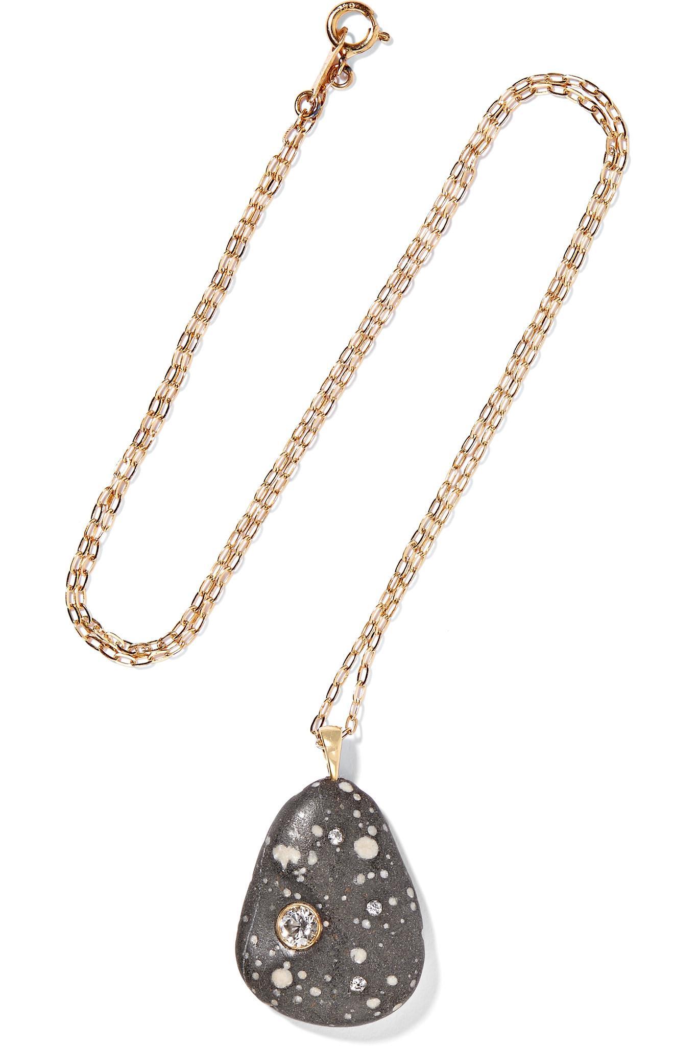 CVC Agapa 18-karat Gold, Stone And Diamond Necklace