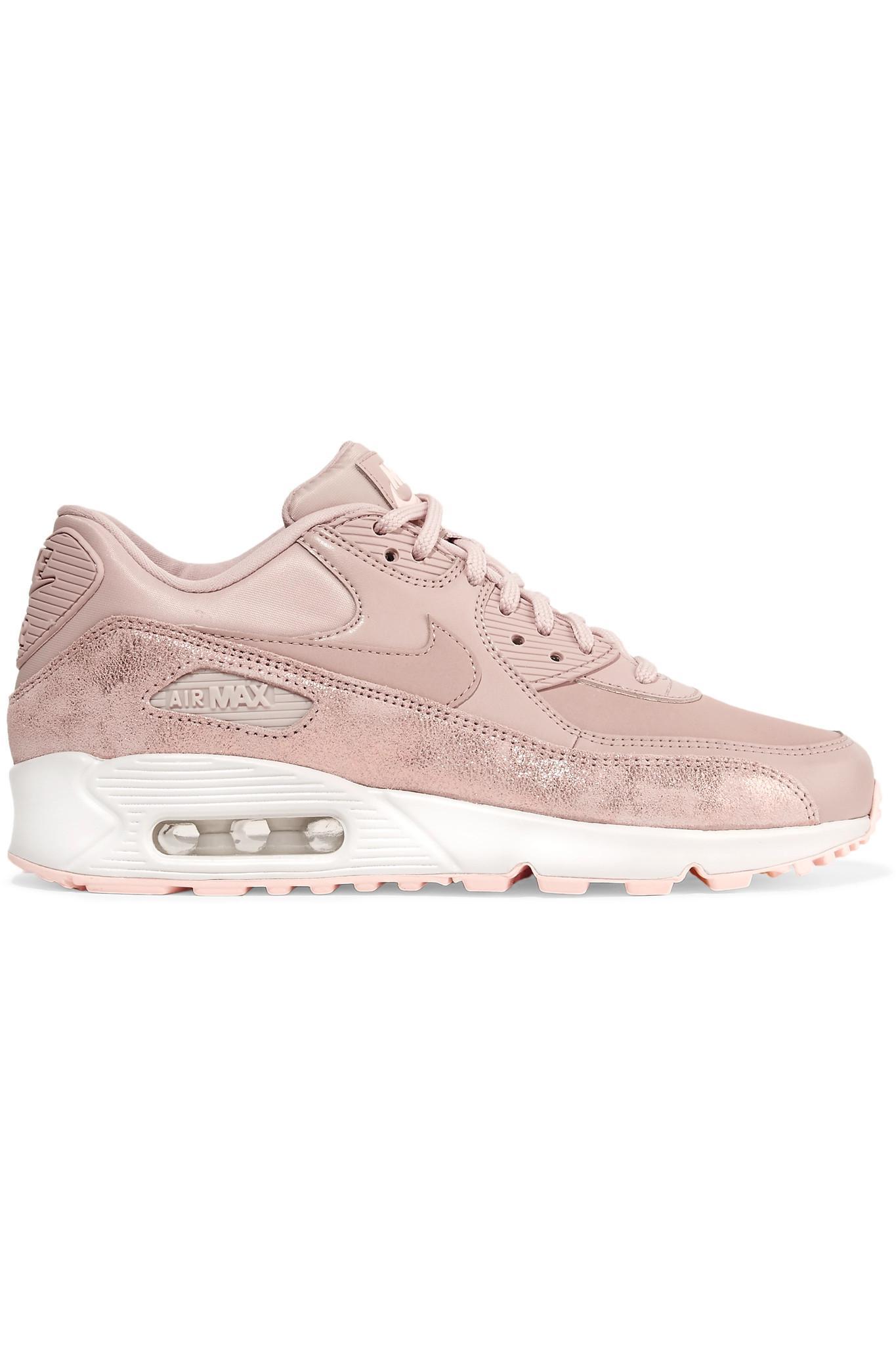 detailing 3e7ce 24b86 Nike. Womens Pink Air Max 90 Premium Cracked ...
