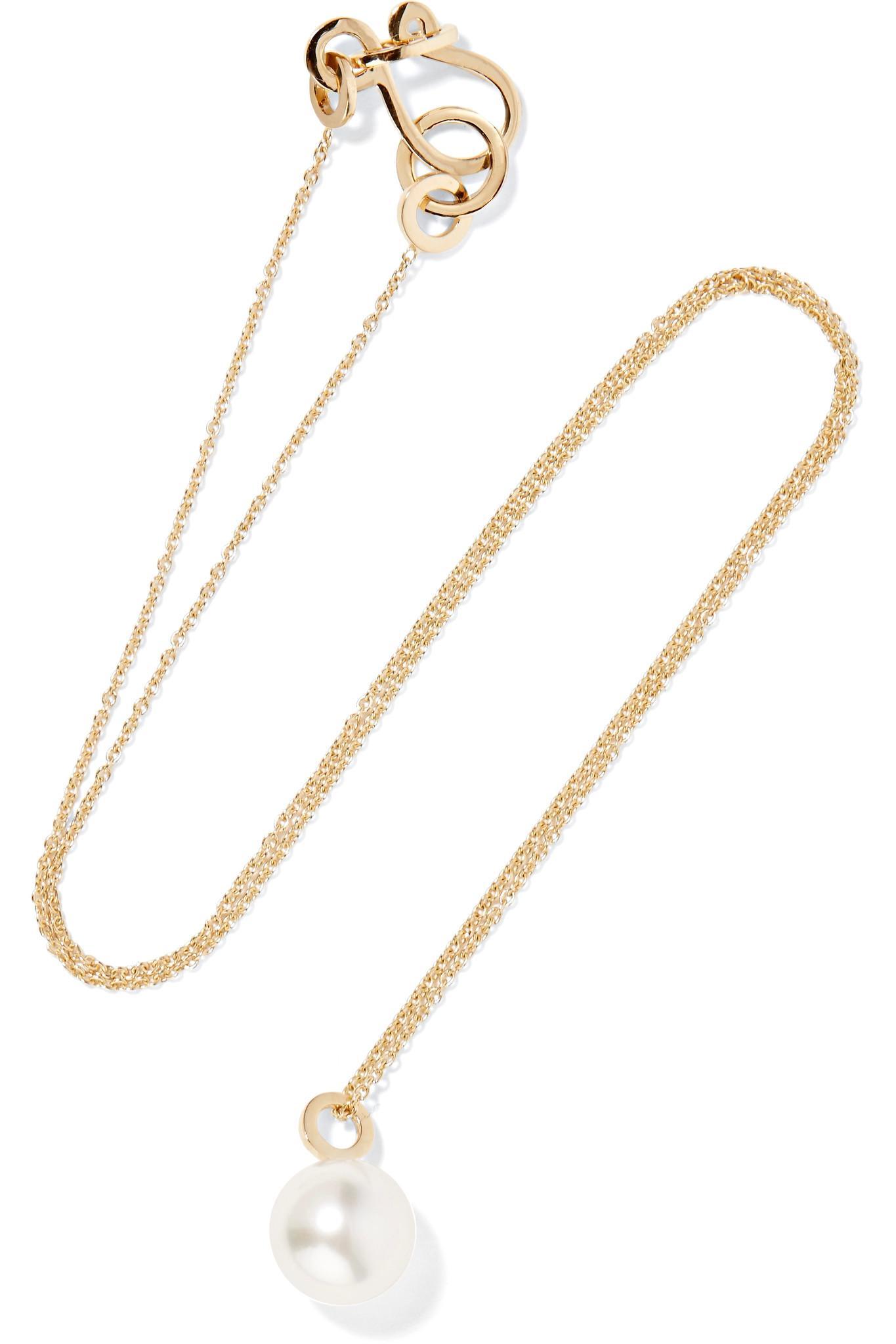 Grace Lee Designs Petite Lace Iv 14-karat Gold Necklace DxSF5yY