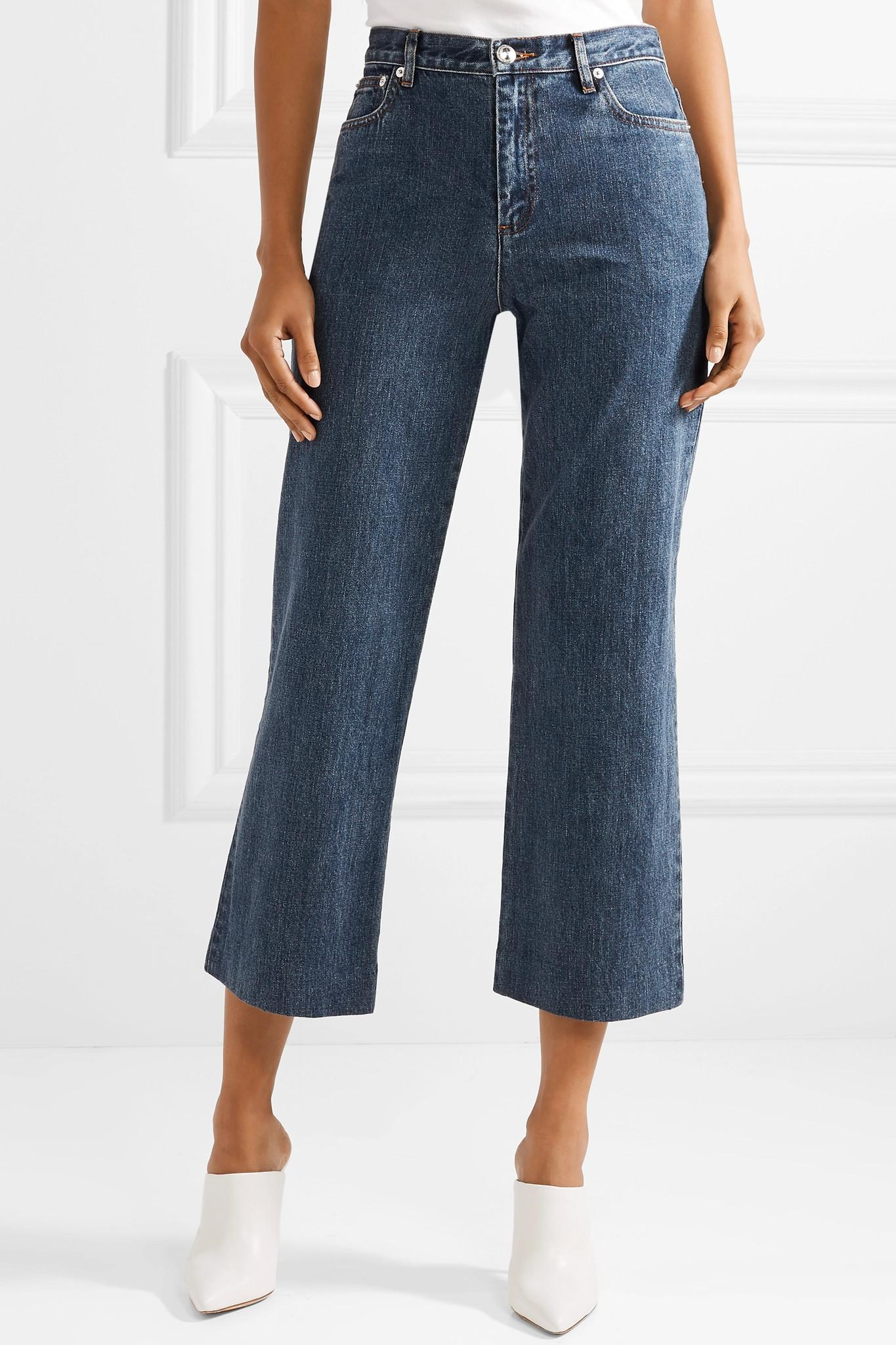 Sailor Cropped High-rise Straight-leg Jeans - Light denim A.P.C. 56pZIaH9X