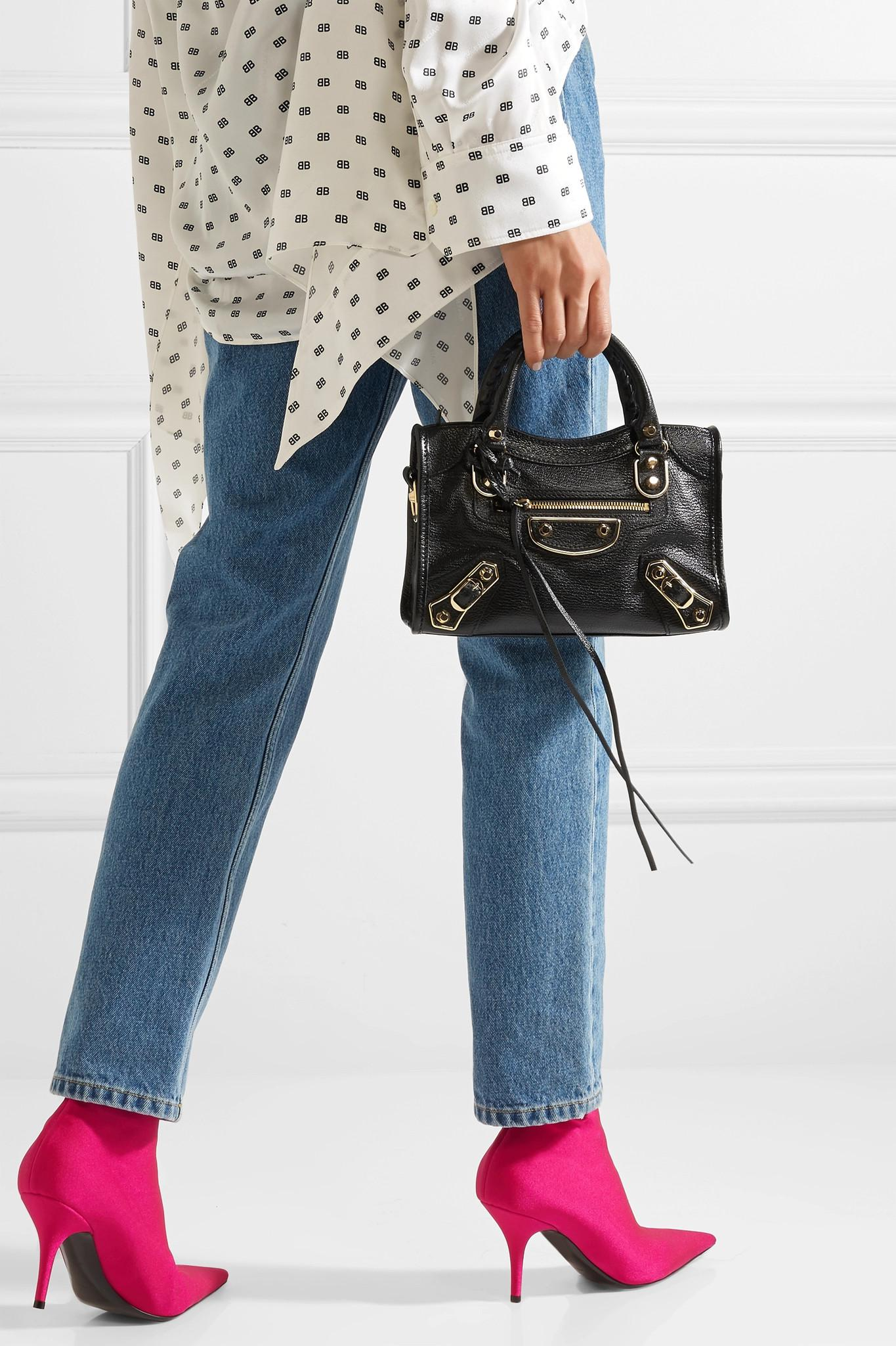 17f553d68c695 Balenciaga - Black Classic Metallic Edge City Mini Textured-leather  Shoulder Bag - Lyst. View fullscreen