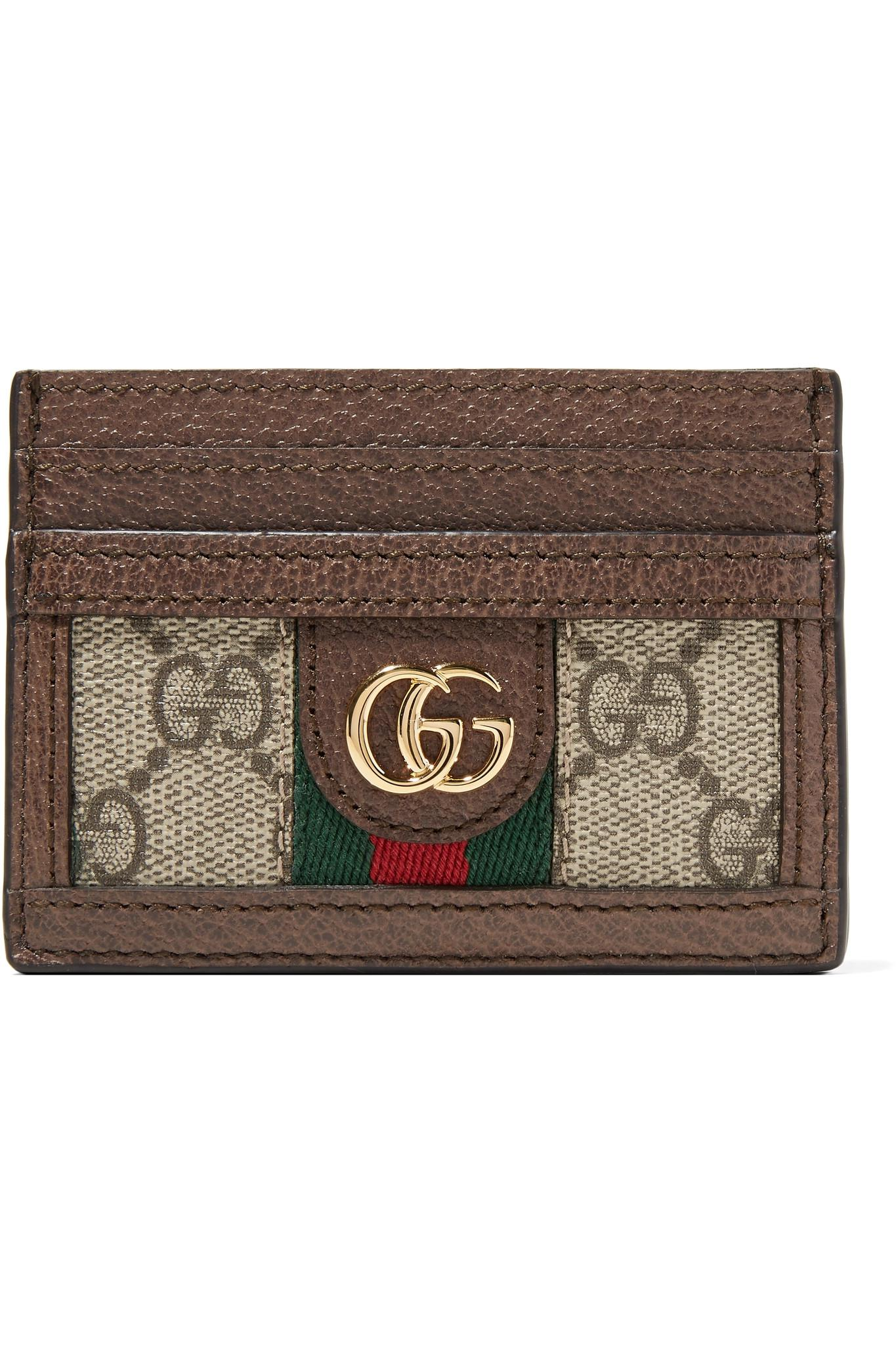 70f11d283e9 Gucci Ophidia Gg Plaque Leather Cardholder - Save 29% - Lyst