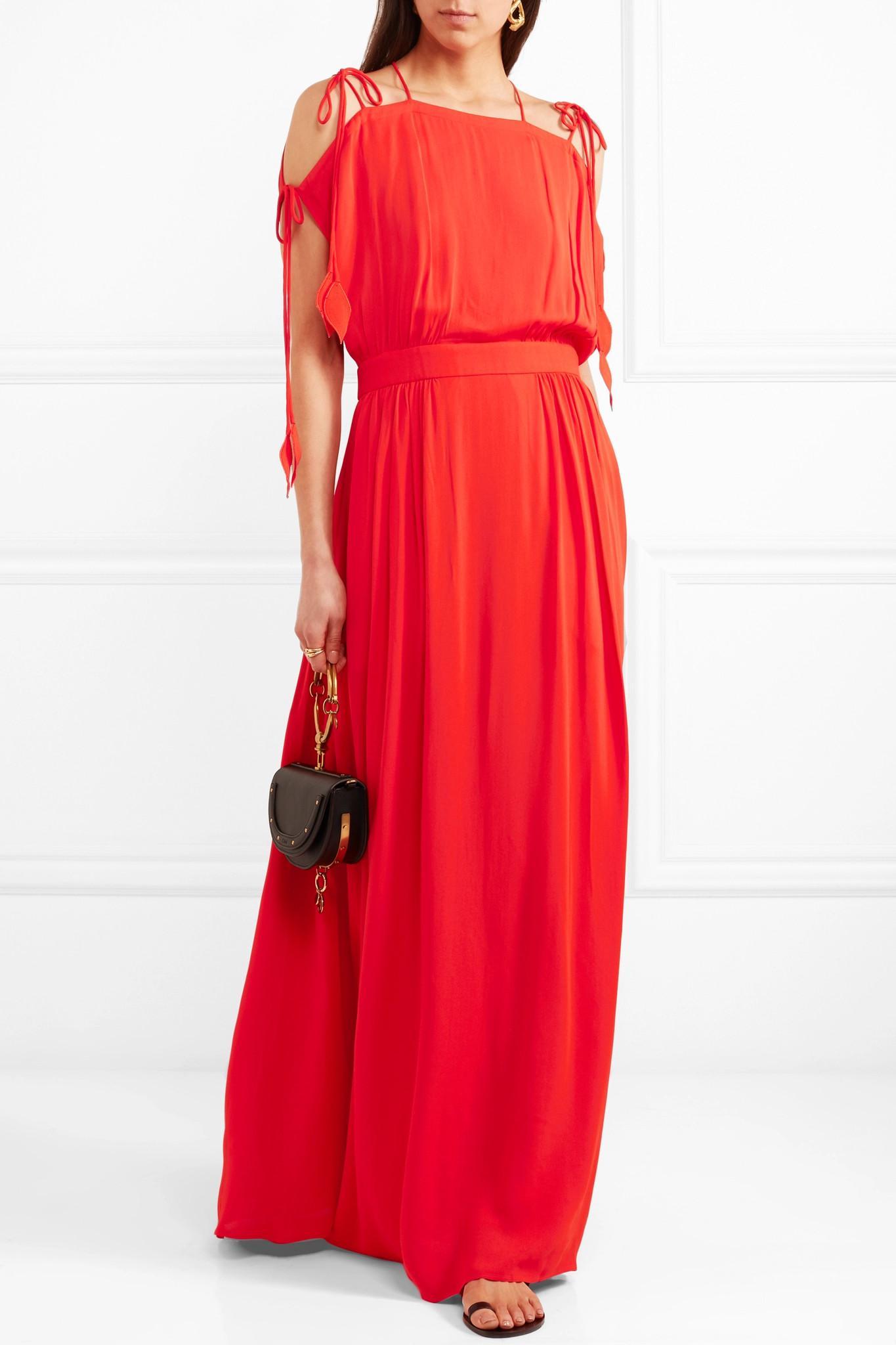 Evaline Chiffon Maxi Dress - Red Tory Burch zs8sFDcoje