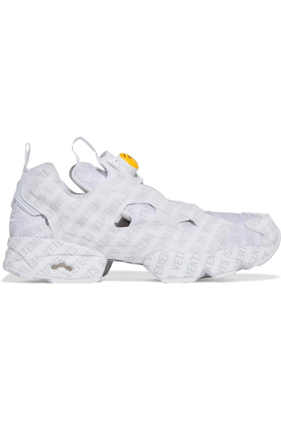 7ba518c3e98 Lyst - Vetements + Reebok Instapump Fury Emoji Printed Leather And ...